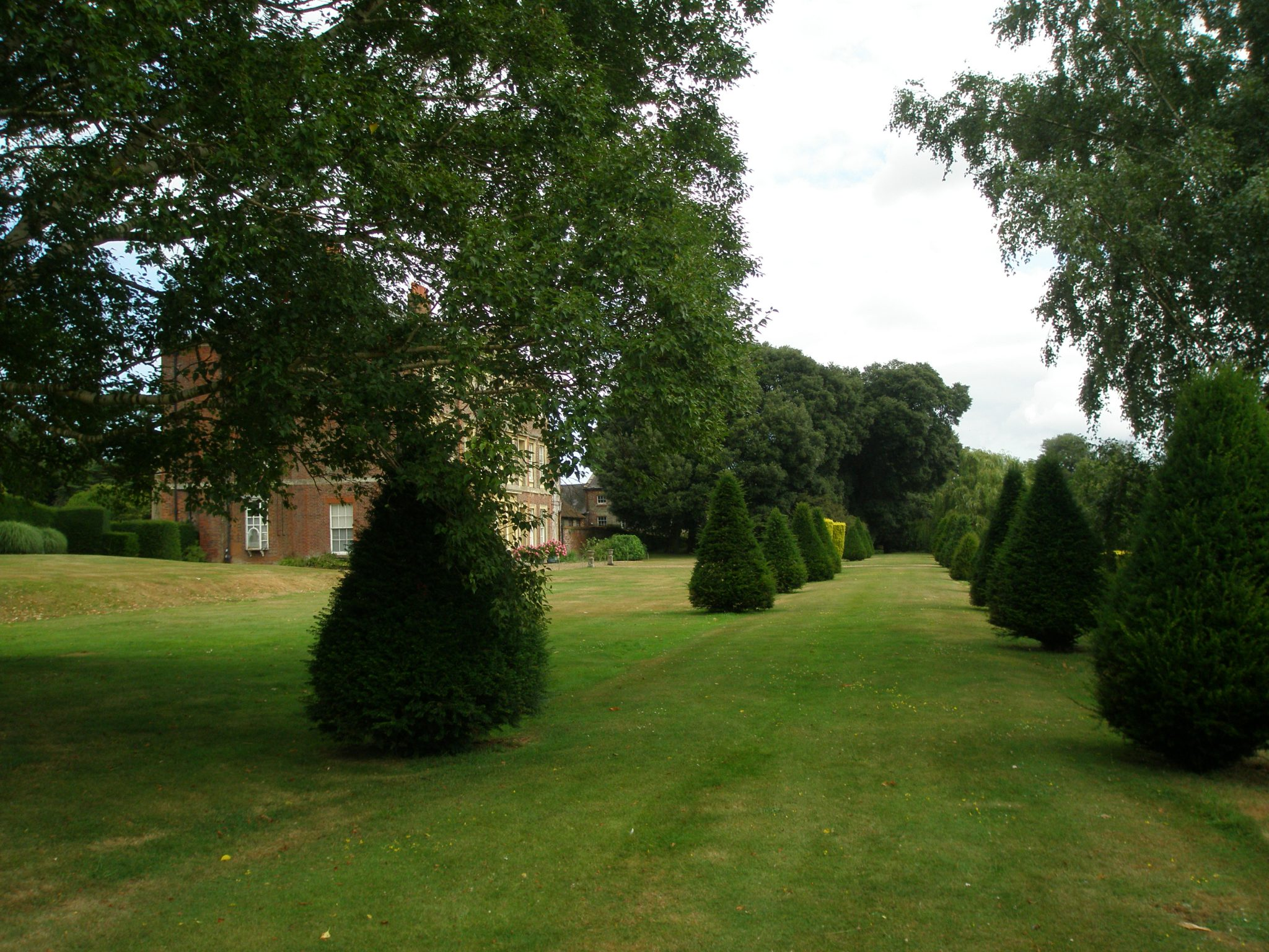 A view down the Yew Walk, on the East Side's Upper Terrace.
