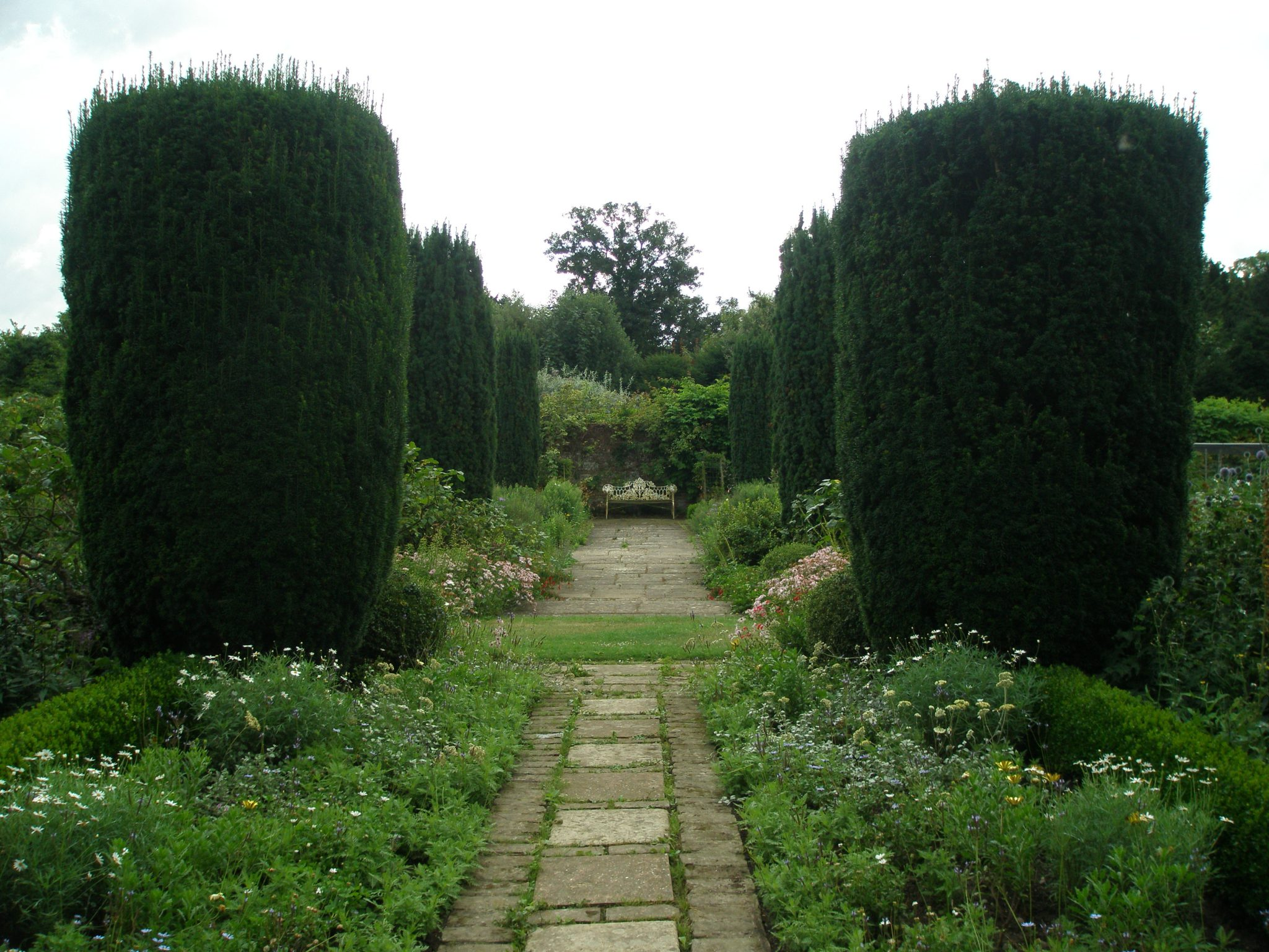 A secluded sitting area in the Walled Garden.