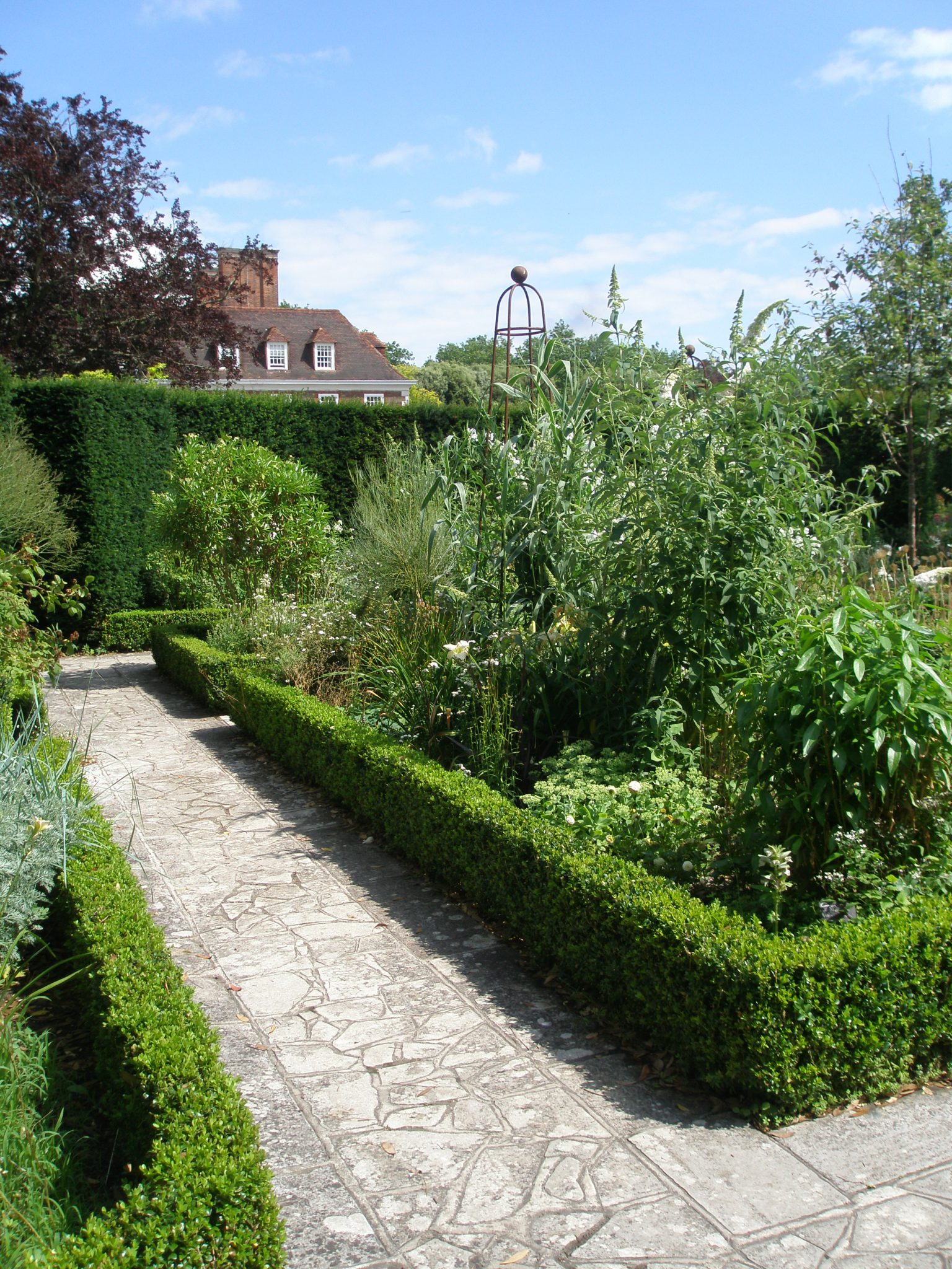 A glimpse of the House, from the White Garden