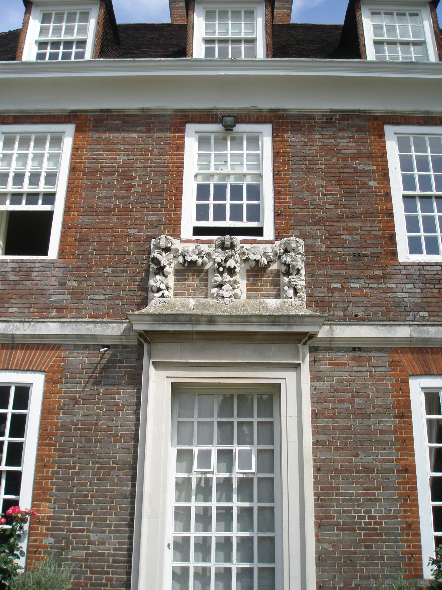 Detail of House, at the Bowling Lawn Terrace