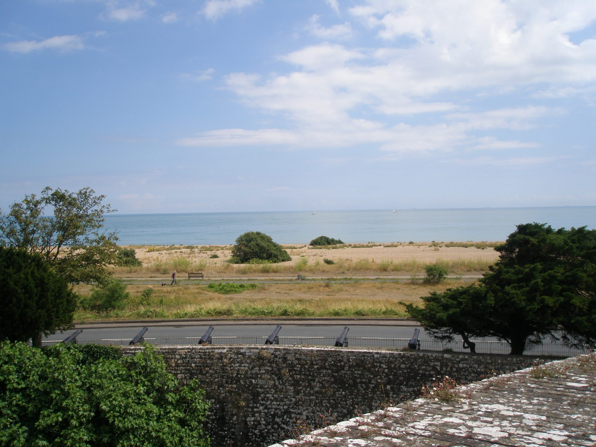 On the Ramparts, banks of cannon face the sea (...and France).