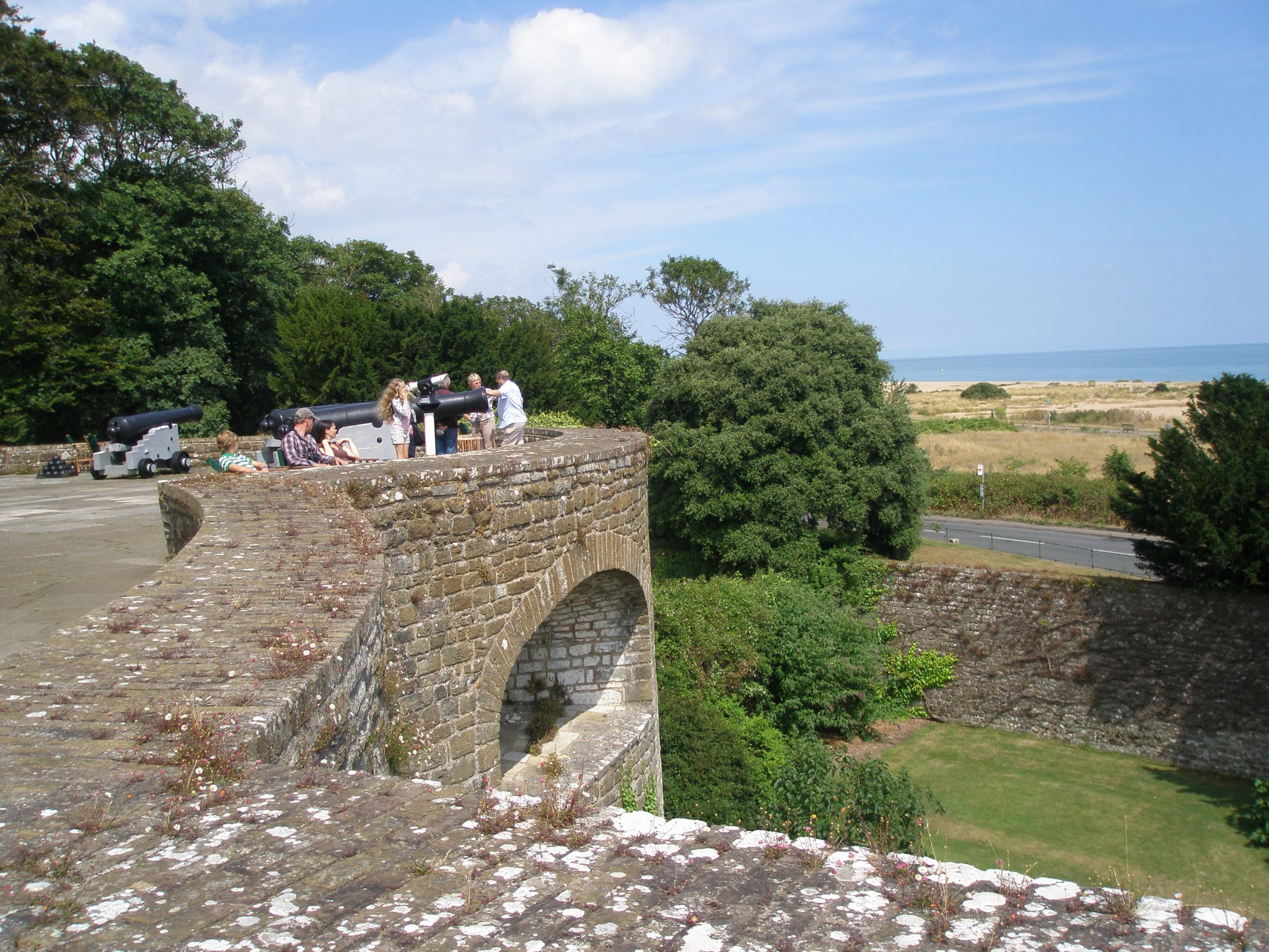Happy visitors, on the Ramparts. Really....I would have been happy to have stayed right here...for the rest of the day!