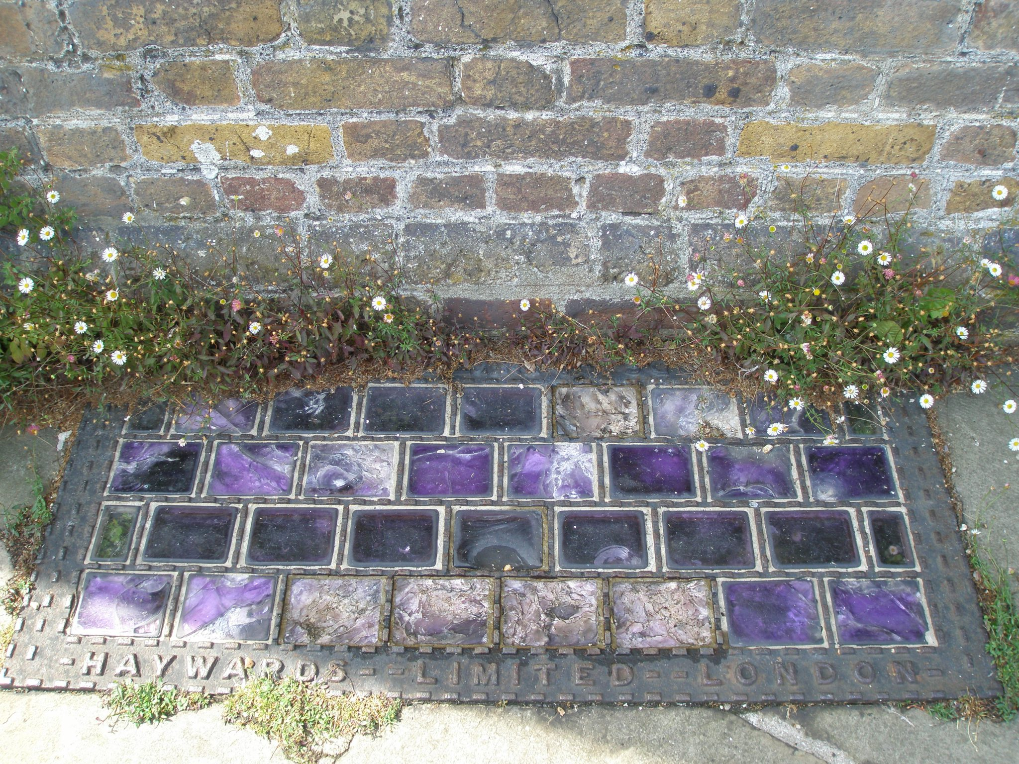 Glass brick in the floor of the Ramparts.