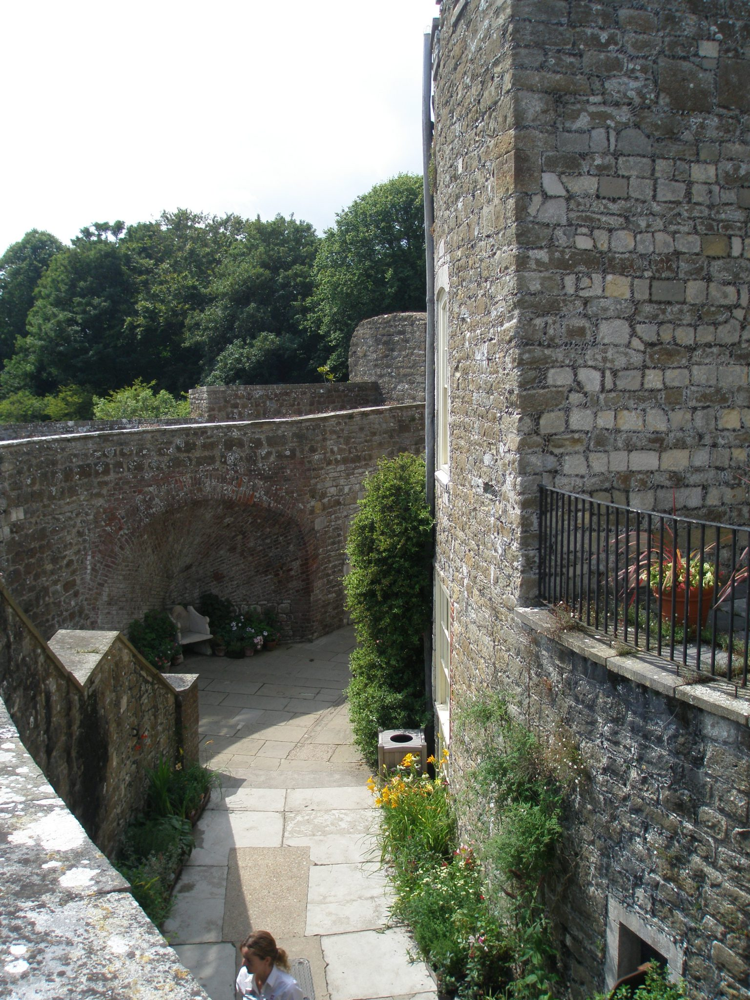 The view from the Ramparts, down into the circular, open courtyard.
