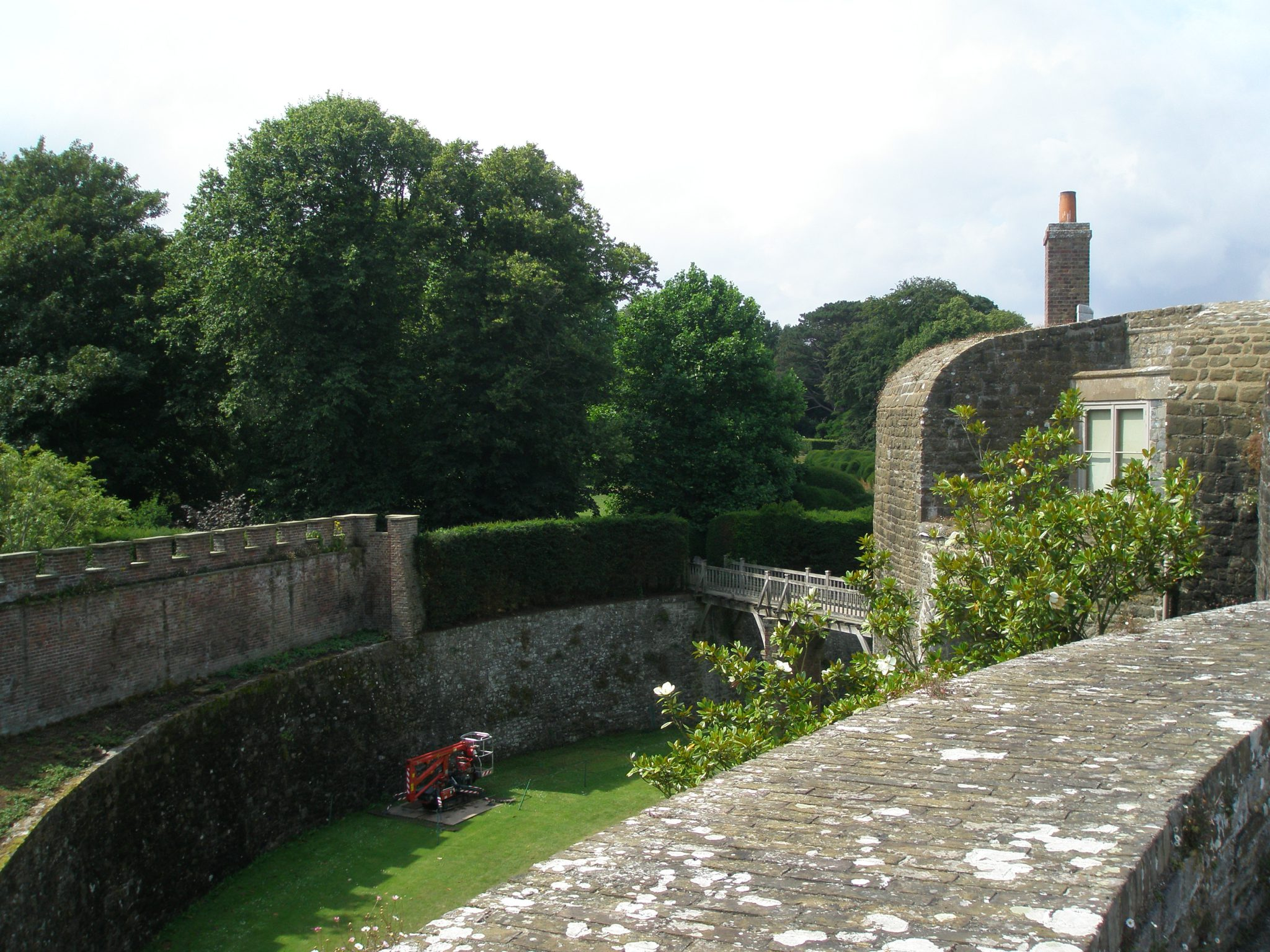 Another view from the Ramparts, down into the Moat Garden.