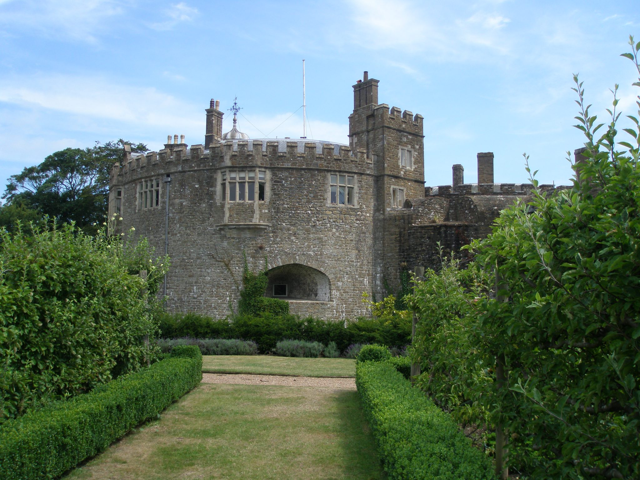 Flanked by these espaliered fruit trees in the Kitchen Garden, we returned to the Castle.