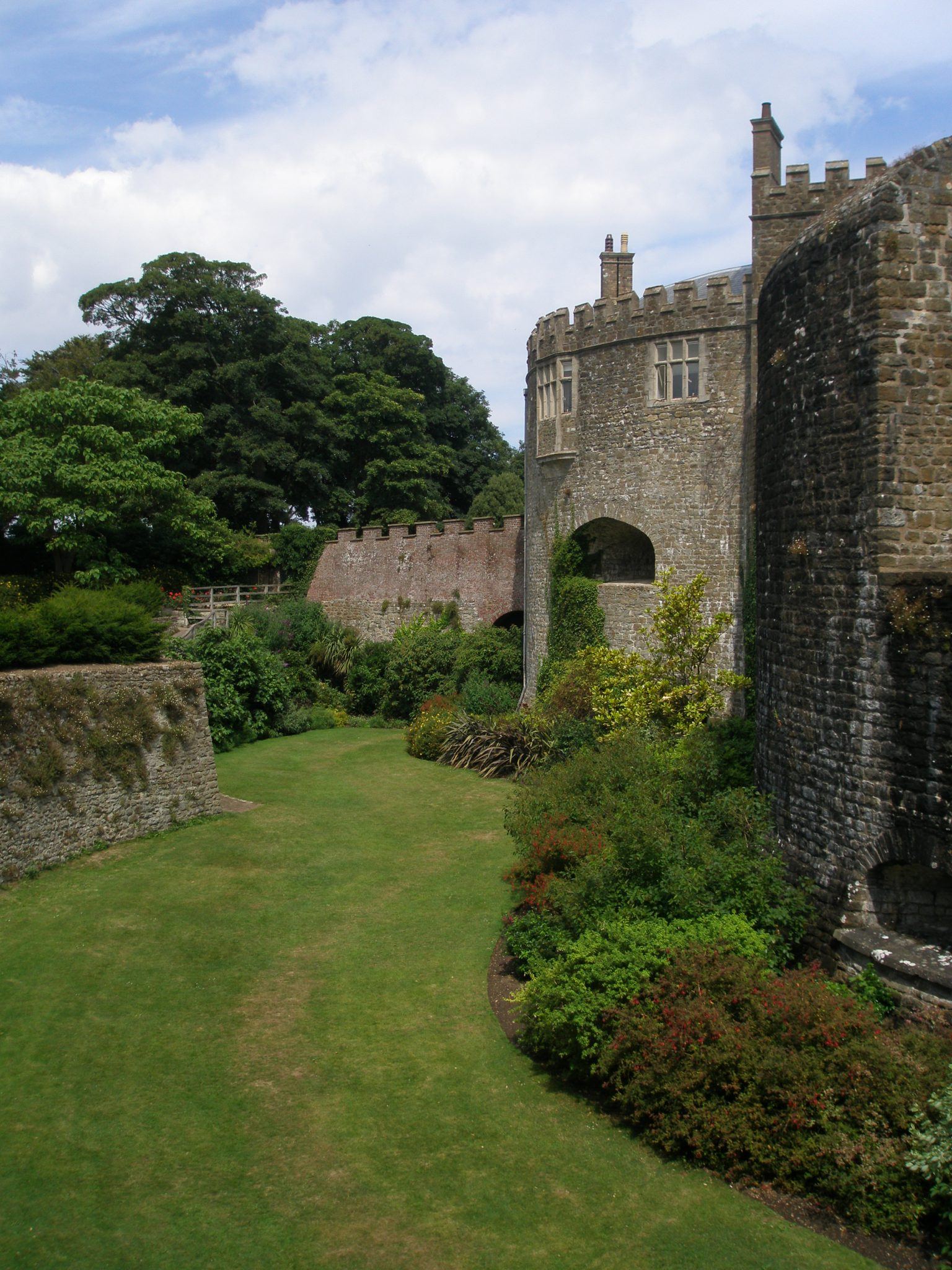 And we took one, last look at the sunken Moat Garden. The sheltered conditions in the Moat allow tender plants and fruit trees (which could not normally survive the harsh, salty, seaside conditions) to flourish.