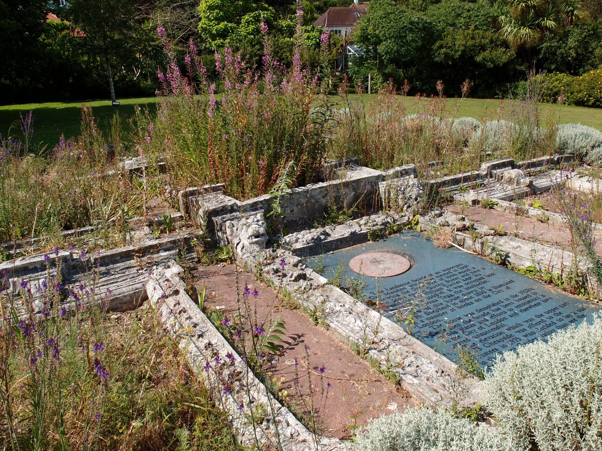 Another view of the architectural remnant garden.