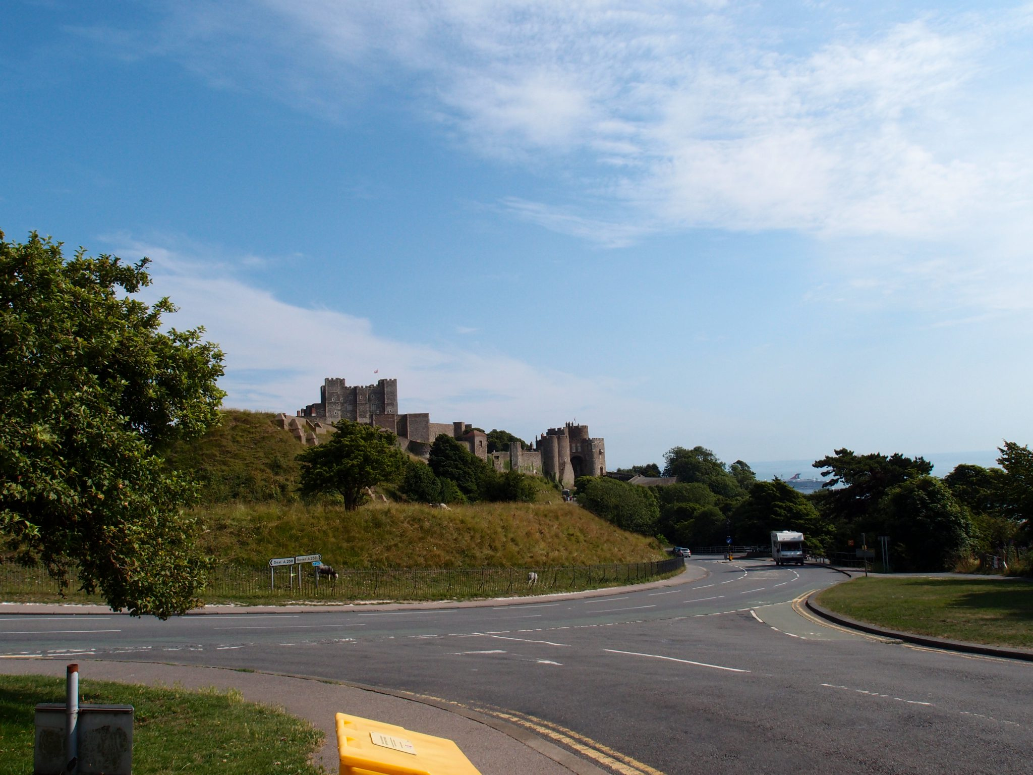 Steve paused, so I could take this fast-photo of Dover Castle. I shall try to visit the Castle, on a future Kent-journey.