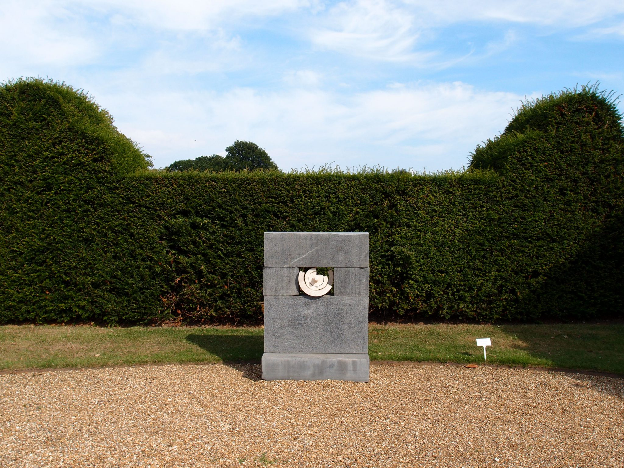 At the southern edge of the North Front Entry Court, this sculpture clearly announced that in Godinton's gardens, we would find a mixture of the classical and contemporary.