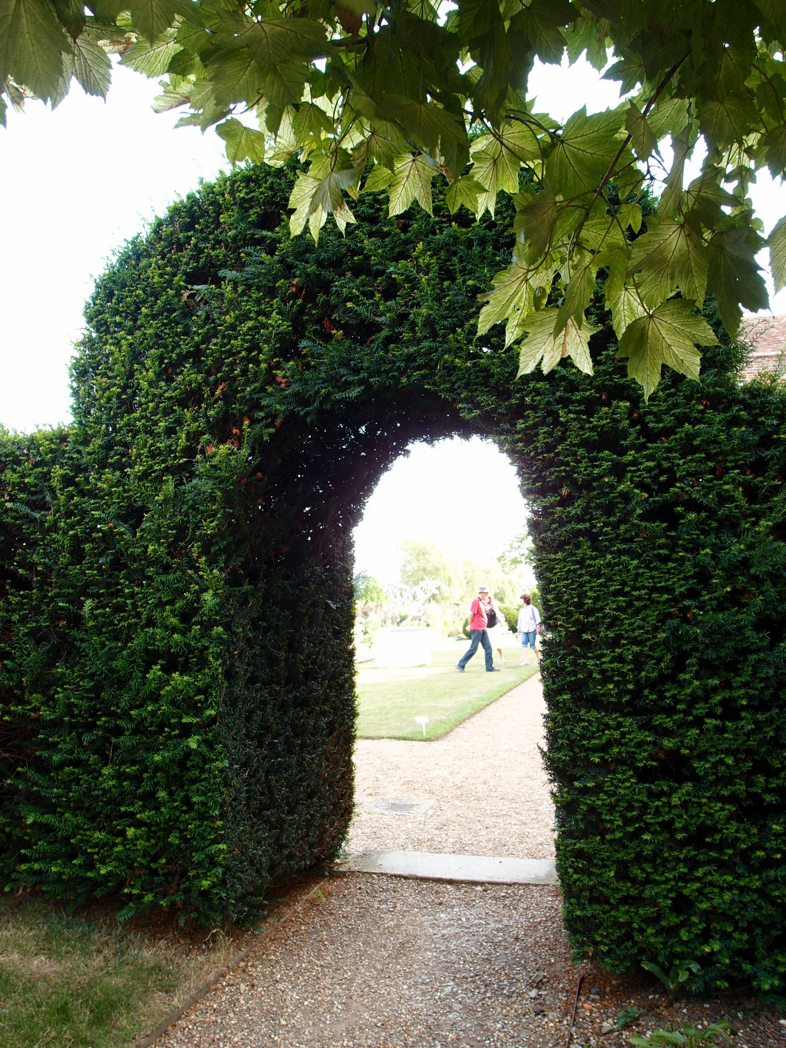 We ducked under this yew arch, and entered the Garden Proper.