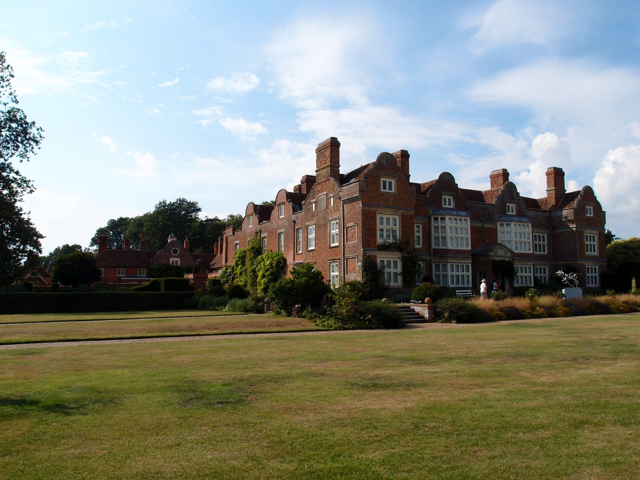 A view of the South, and East Faces of the House, from the Croquet Lawn.