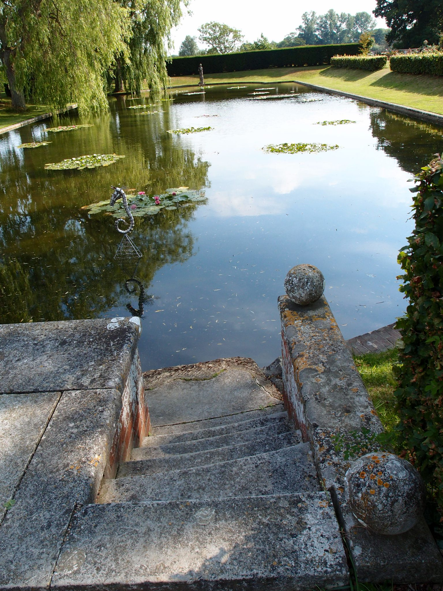 Steps down to the Lily Pond