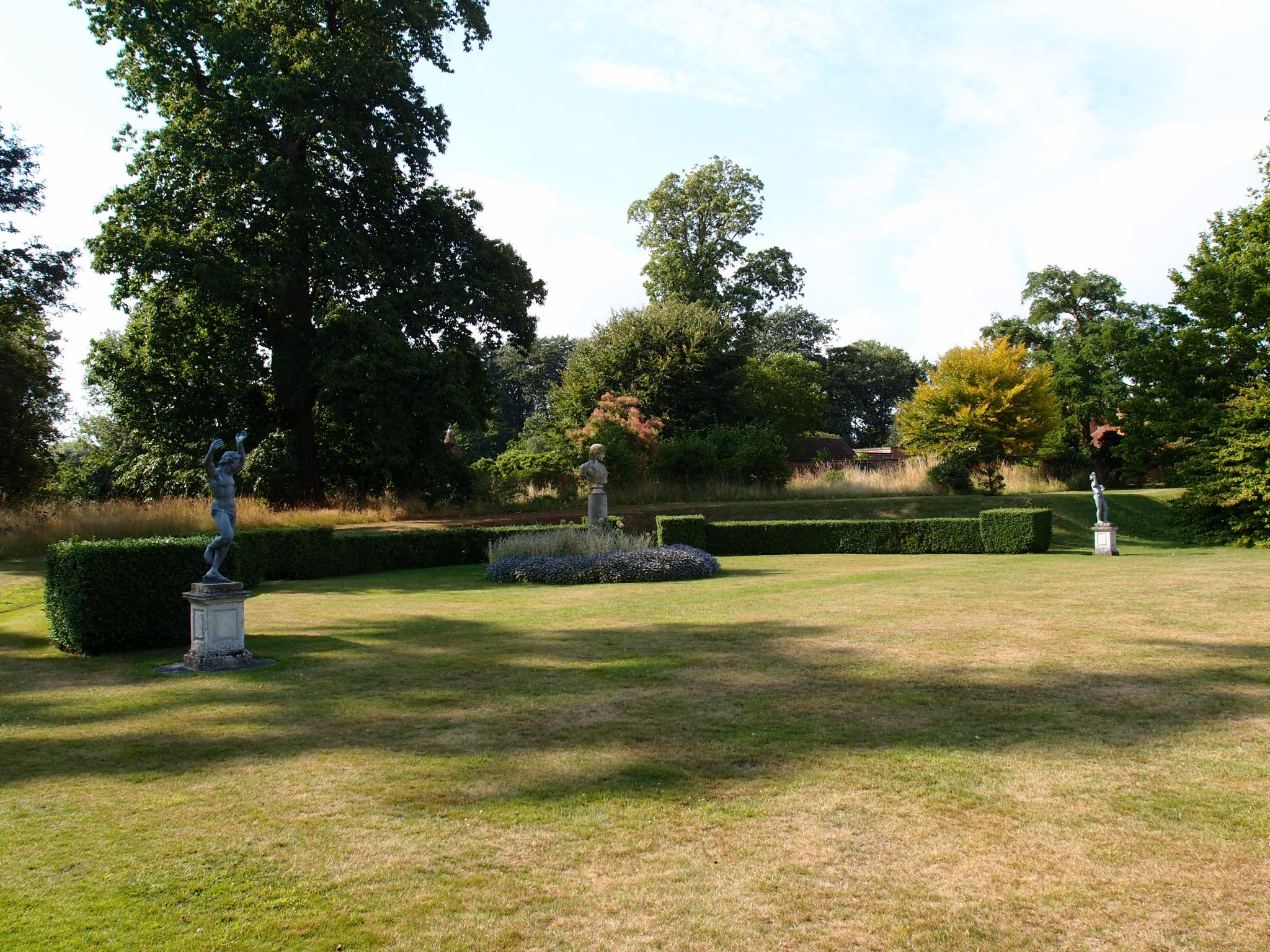 We hung a left, onto the Tennis Lawn, where Godinton's greatest concentration of sculptures is displayed.