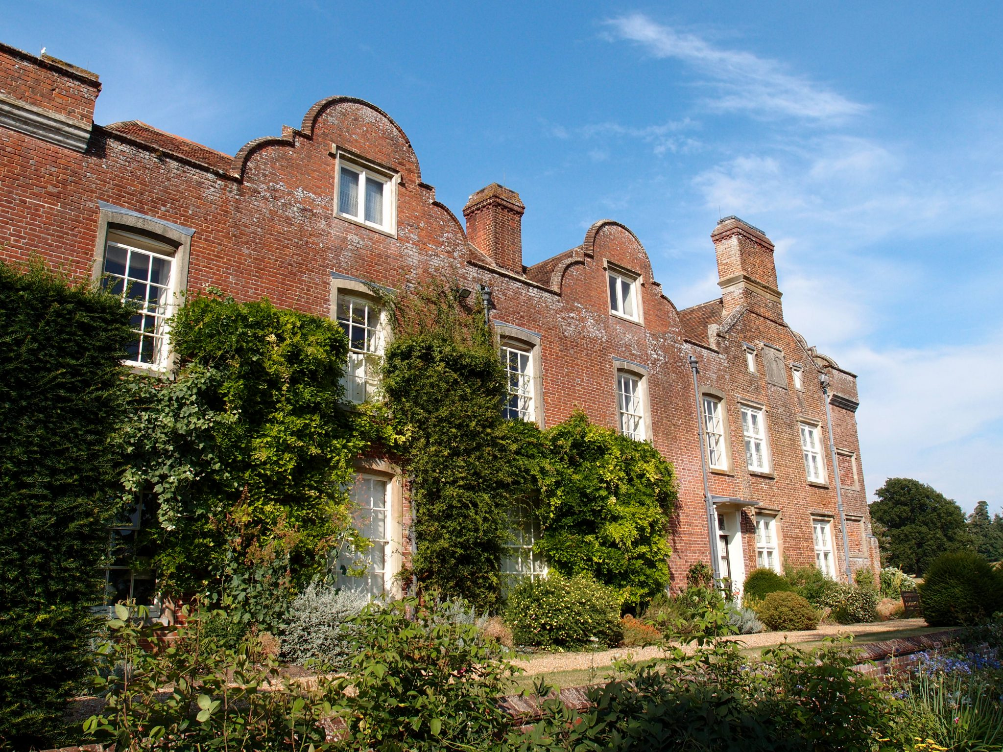 The South Face of the House overlooks the Rose Garden