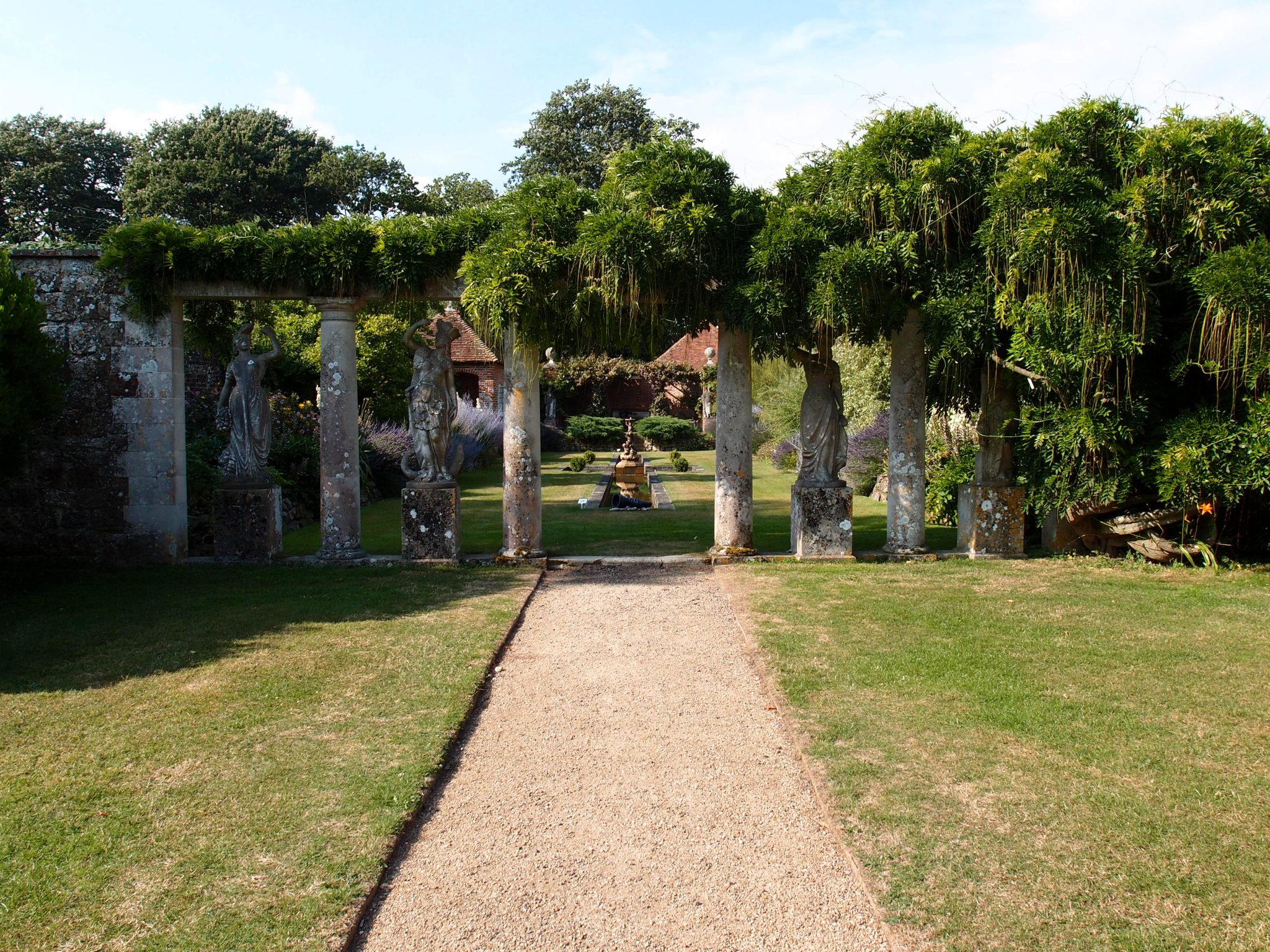 West of the Rose Garden, we found this Neoclassical Colonnade, which leads to the Italian Garden.