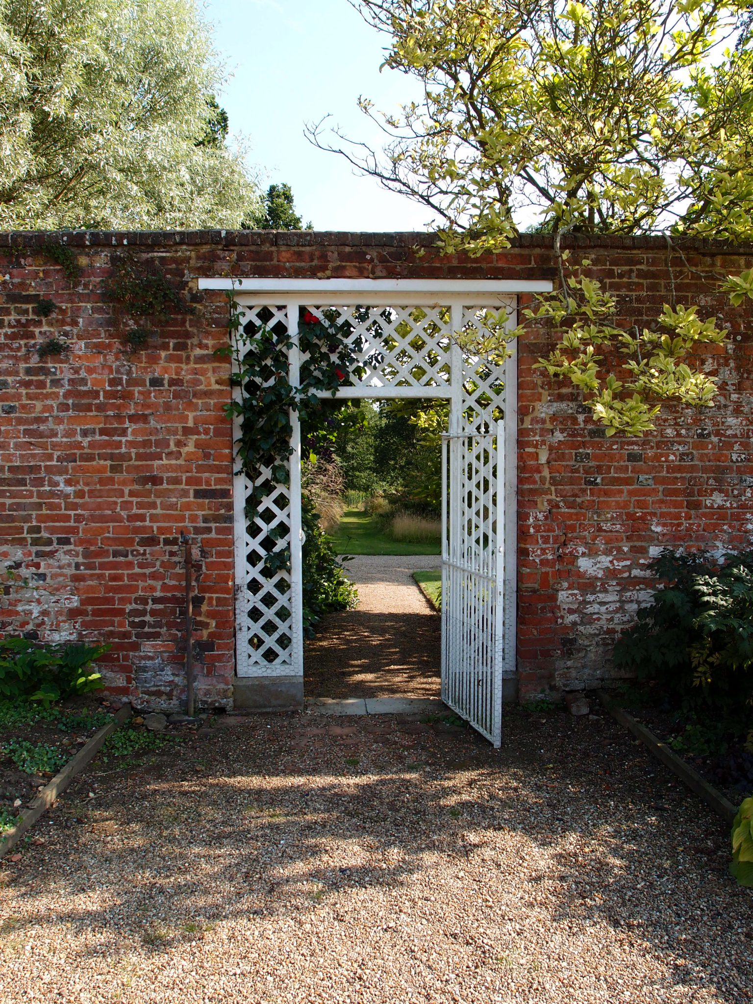 With more than a little regret, I admitted that it was time for us to leave Godinton's Gardens. We exited the Walled Garden....