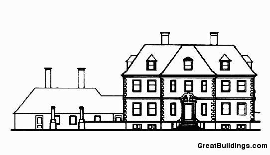 Salutation. North Elevation of House. Image courtesy of greatbuildings.com