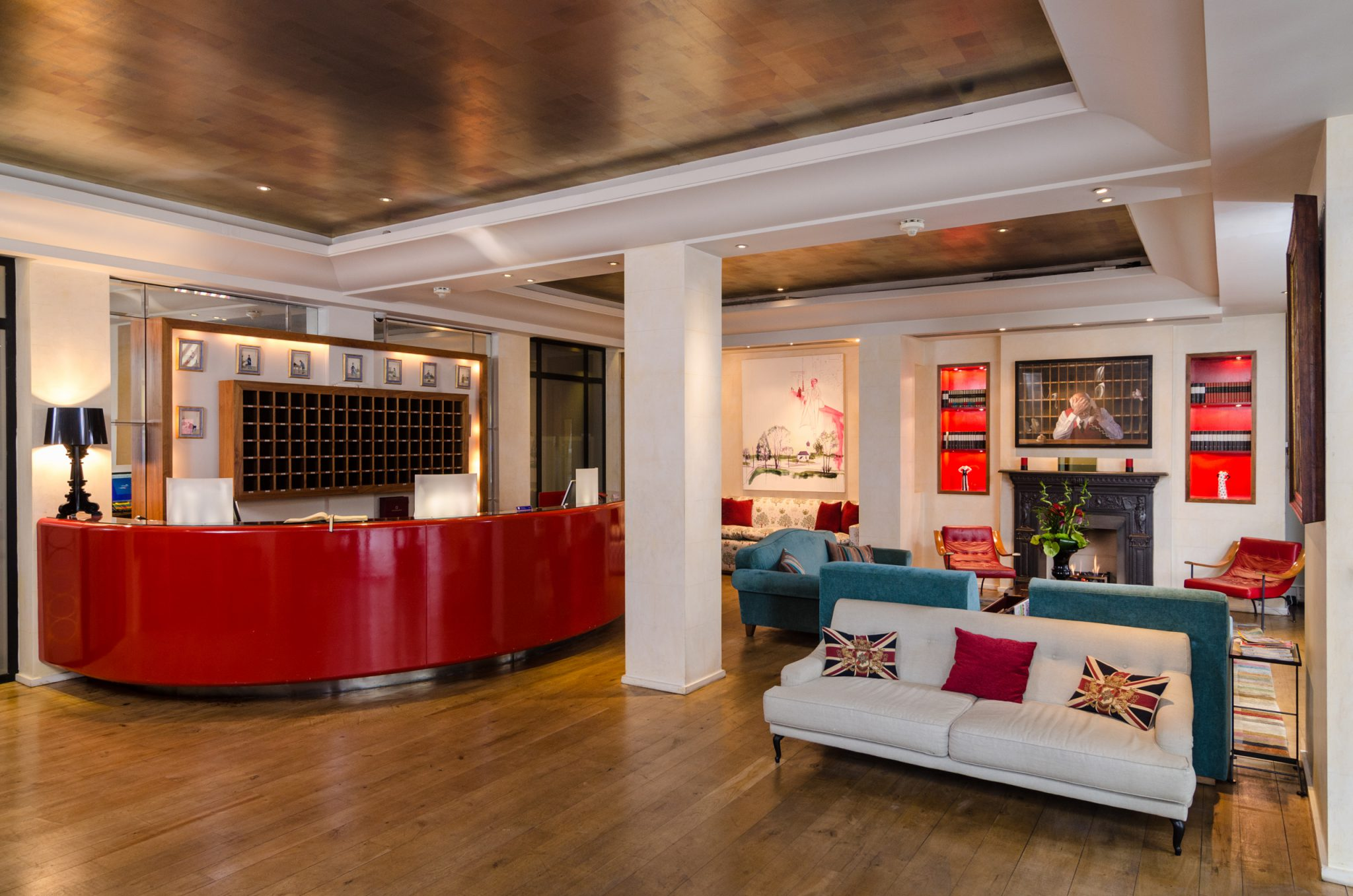 The Lobby at the Sloane Square Hotel. Photo courtesy of Sloane Square Hotel.