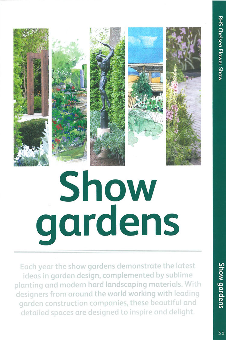 Let the Show (Gardens) Begin! Image courtesy of the RHS Chelsea Flower Show catalogue.