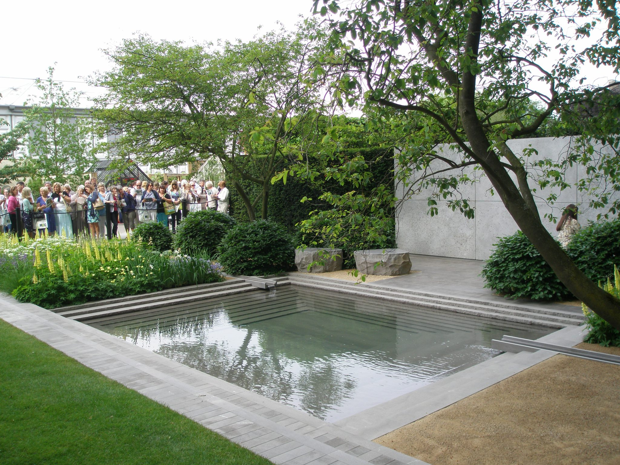 The Laurent-Perrier Garden. Given a Gold Medal, and also declared by the RHS to be the Best Show Garden of 2014.