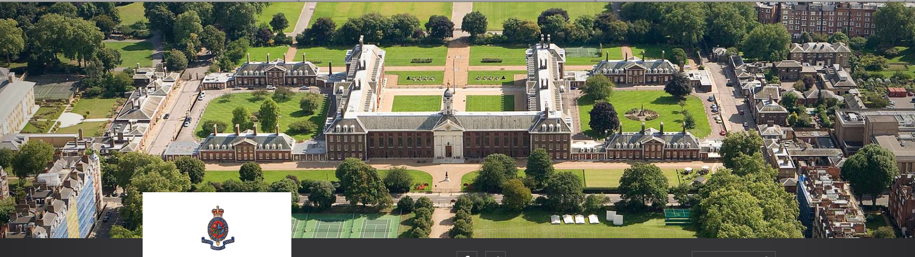 Aerial view of the Royal Hospital. Image courtesy of the Royal Hospital, Chelsea.