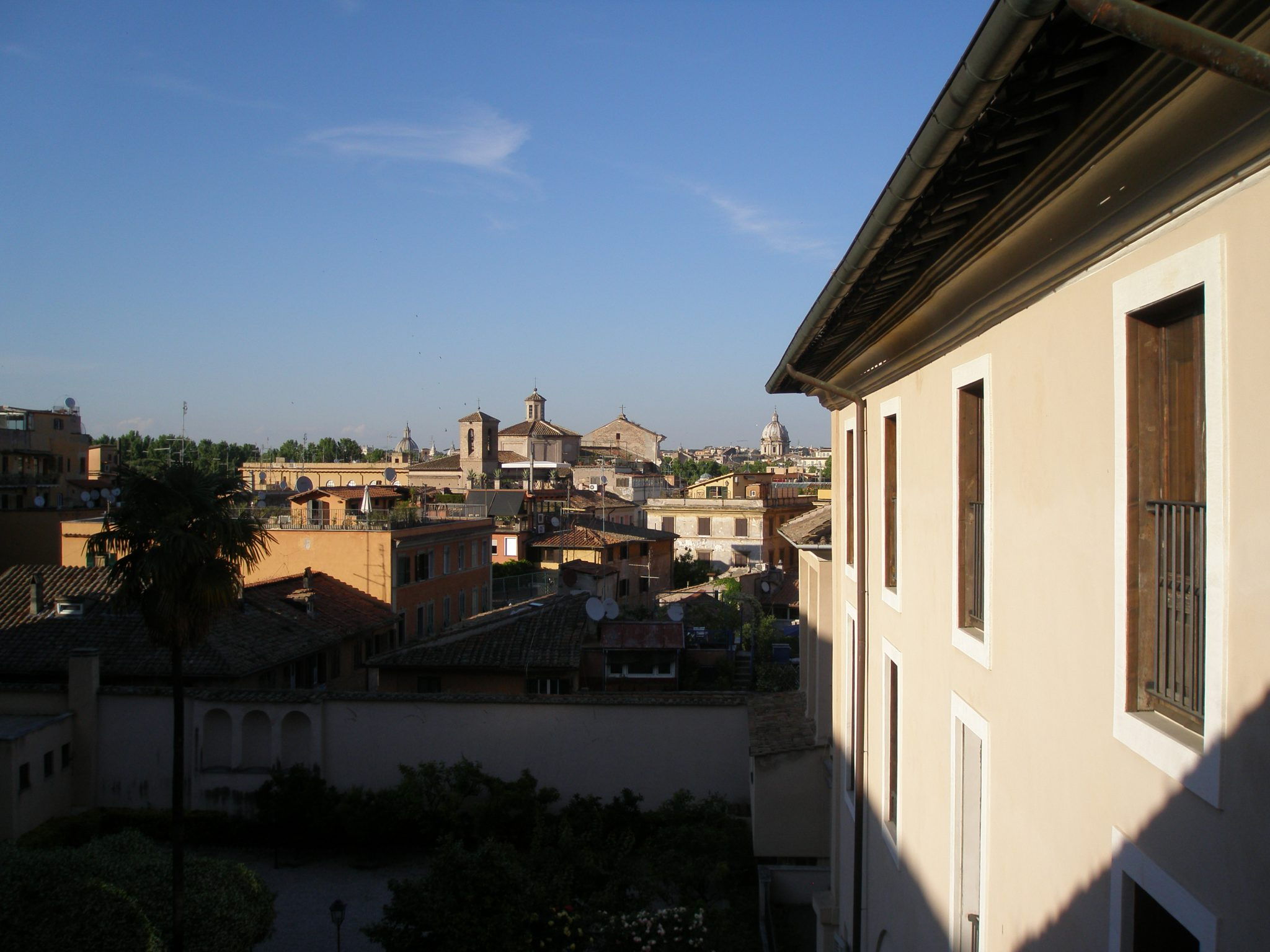 This was first view of Trastevere, from my room, on May 9th, in the late afternoon.