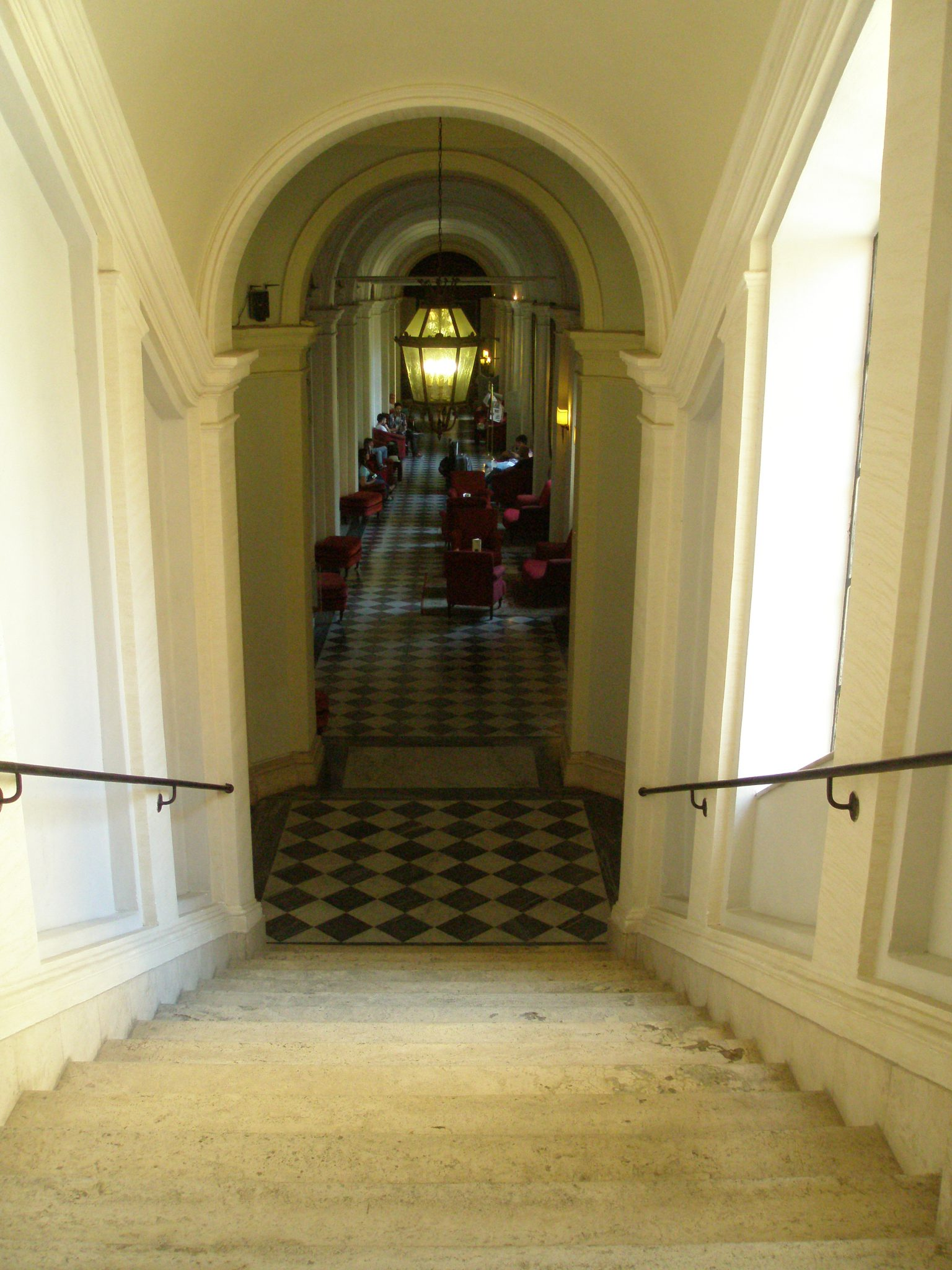 View down back to the Lounge