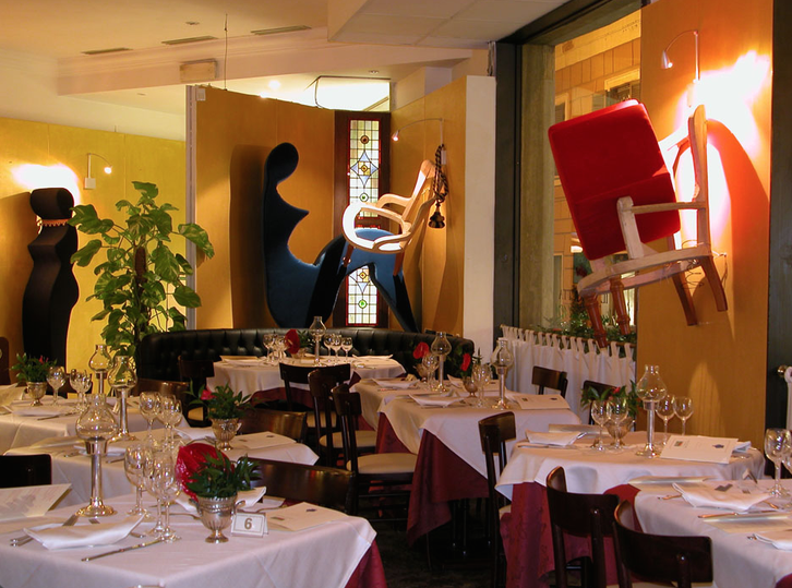 One of several dining rooms at il Margutta