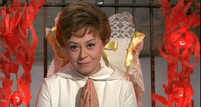 The divine Giuliette Masina, in Fellini's 1965 film, JULIET OF THE SPIRITS.