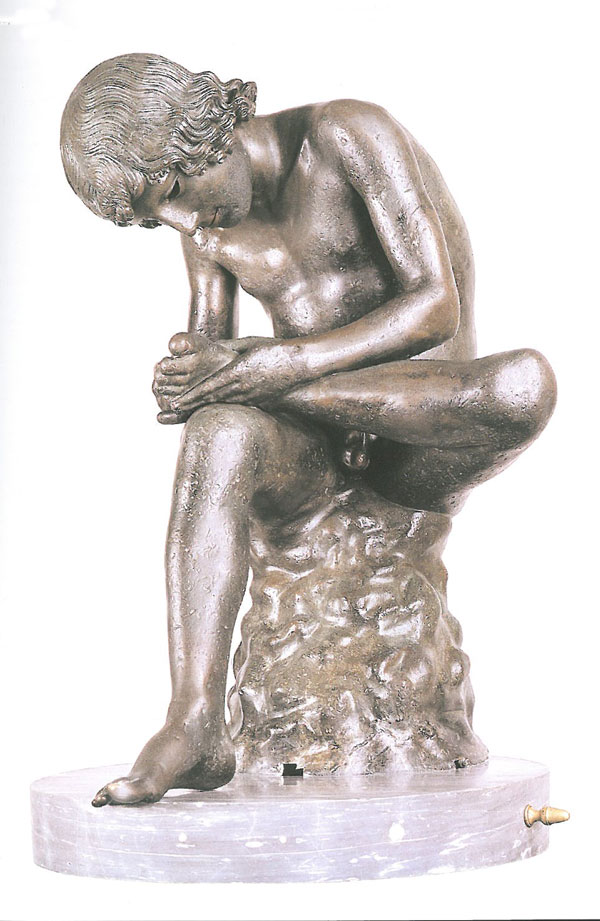 The small bronze statue of a boy extracting a thorn from his foot was probably made in the first century BC. Of all the images in the Capitoline Museum, this is the one most copies during the Renaissance. Image courtesy of the Capitoline Museum.