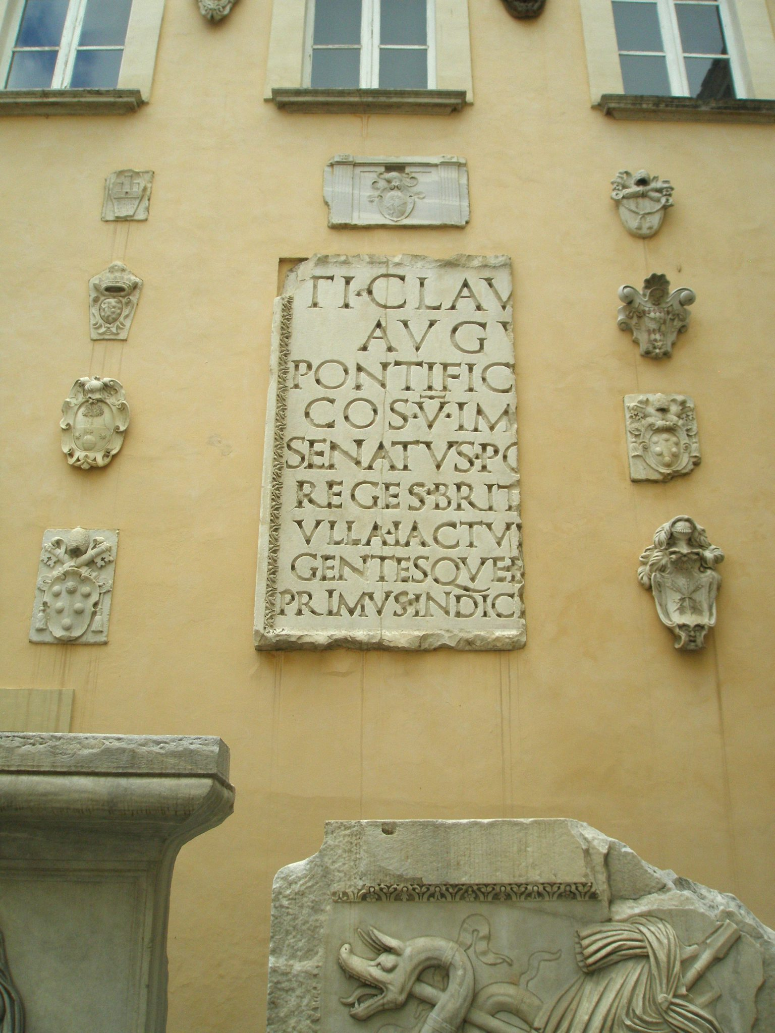 Fragments of decoration from the Temple of the God Hadrian (circa 145AD)
