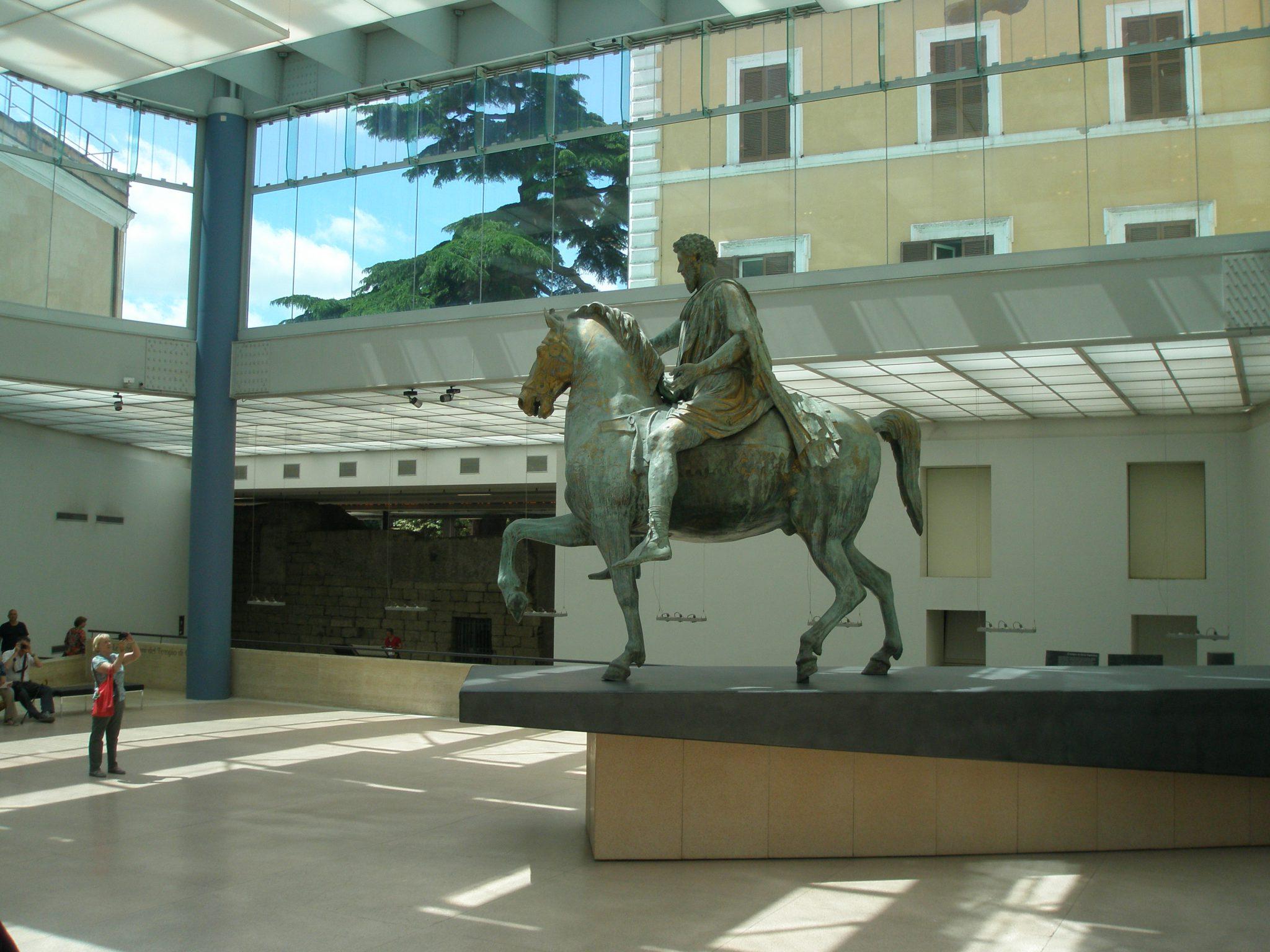 Equestrian bronze of Marcus Aurelius (circa 176AD--180AD)