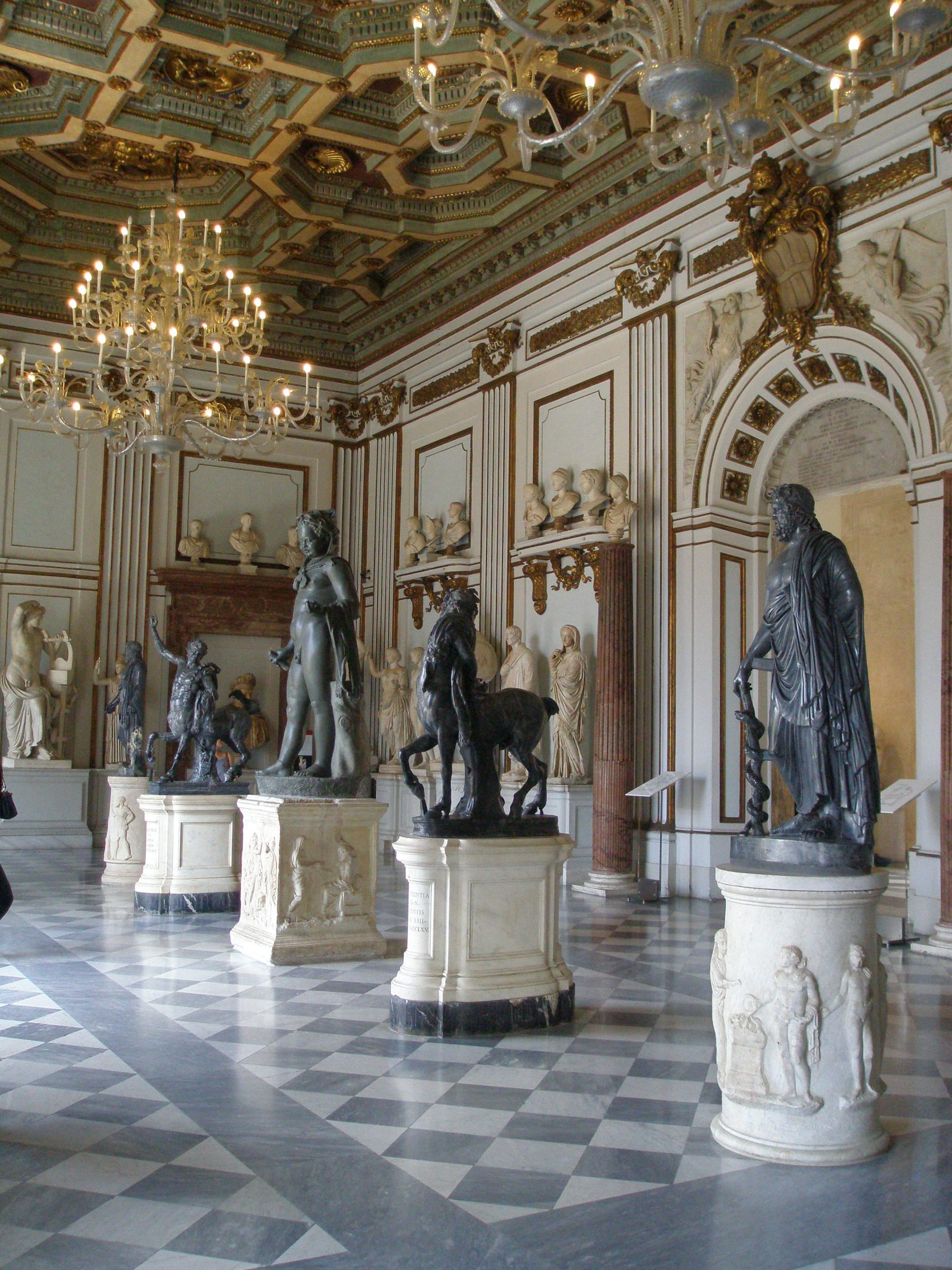 Baroque splendor in the Great Hall of the Palazzo Nuovo