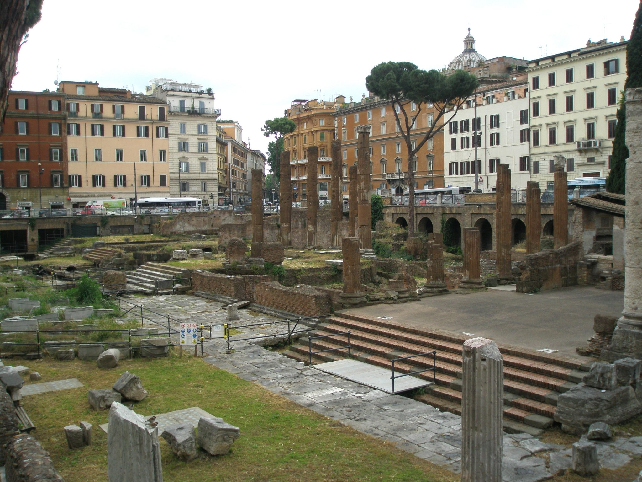 The Sacred Area of Largo Argentina. The discovery of these ruins was a great surprise. In 1926, during demolitions ordered by Benito Mussolini, workers began to unearth the remains of four, ancient Roman temples.