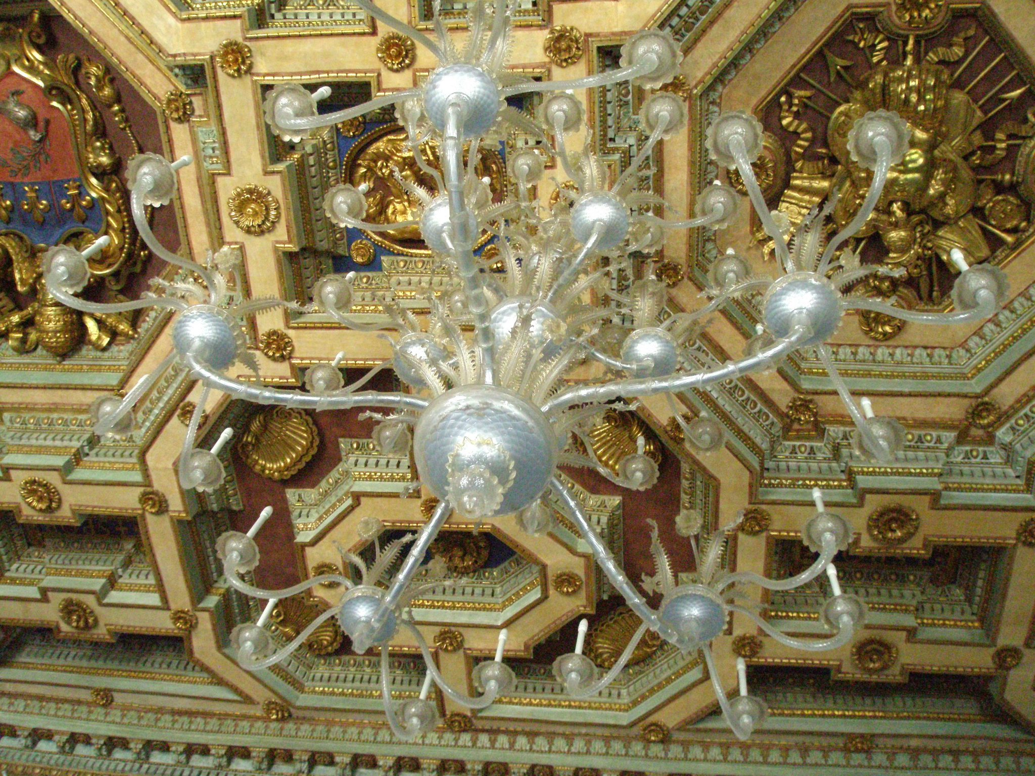 Glass Chandelier in the Great Hall