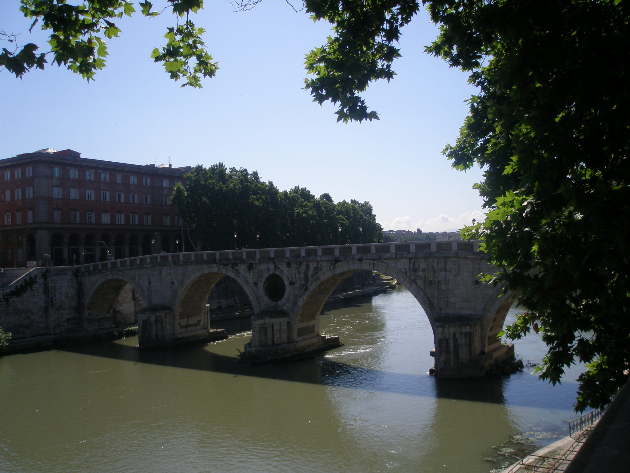 Ponte Sisto, photographed during my June 2011 visit to Rome.