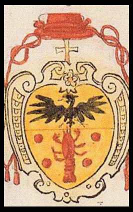 Gambara's Coat of Arms, with a Crayfish.