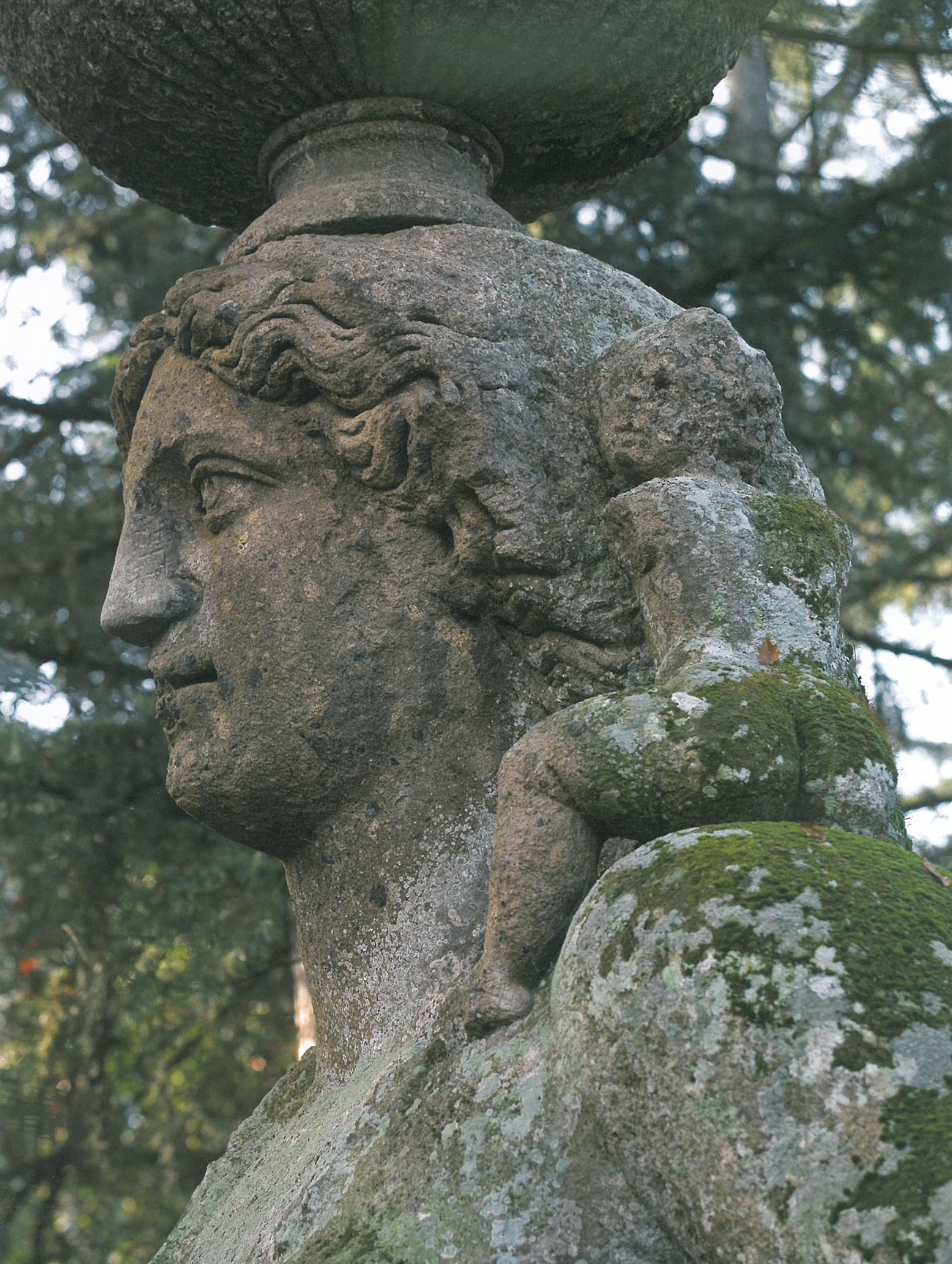 And a tiny child clings to Demeter's neck. Image courtesy of THE GARDEN AT BOMARZO, by Jessie Sheeler.