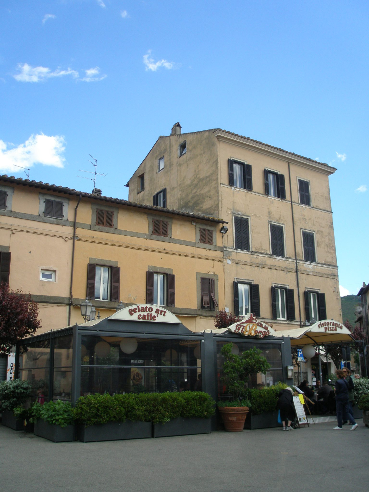 The Tented Restaurant, at B&B da Peppe al Borgo, on Bagnaia's main Piazza.