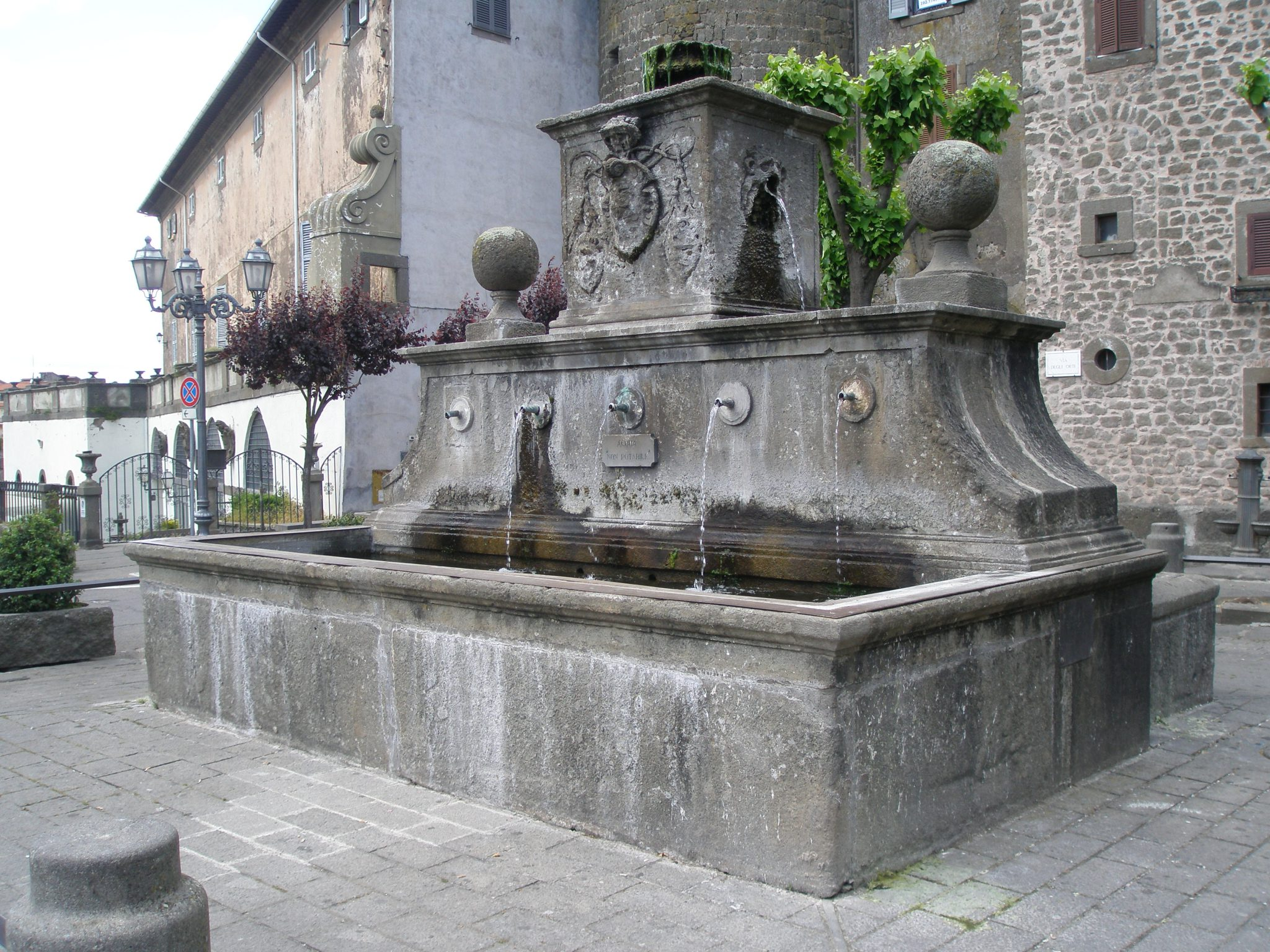 Fountain on Bagnaia's main Piazza