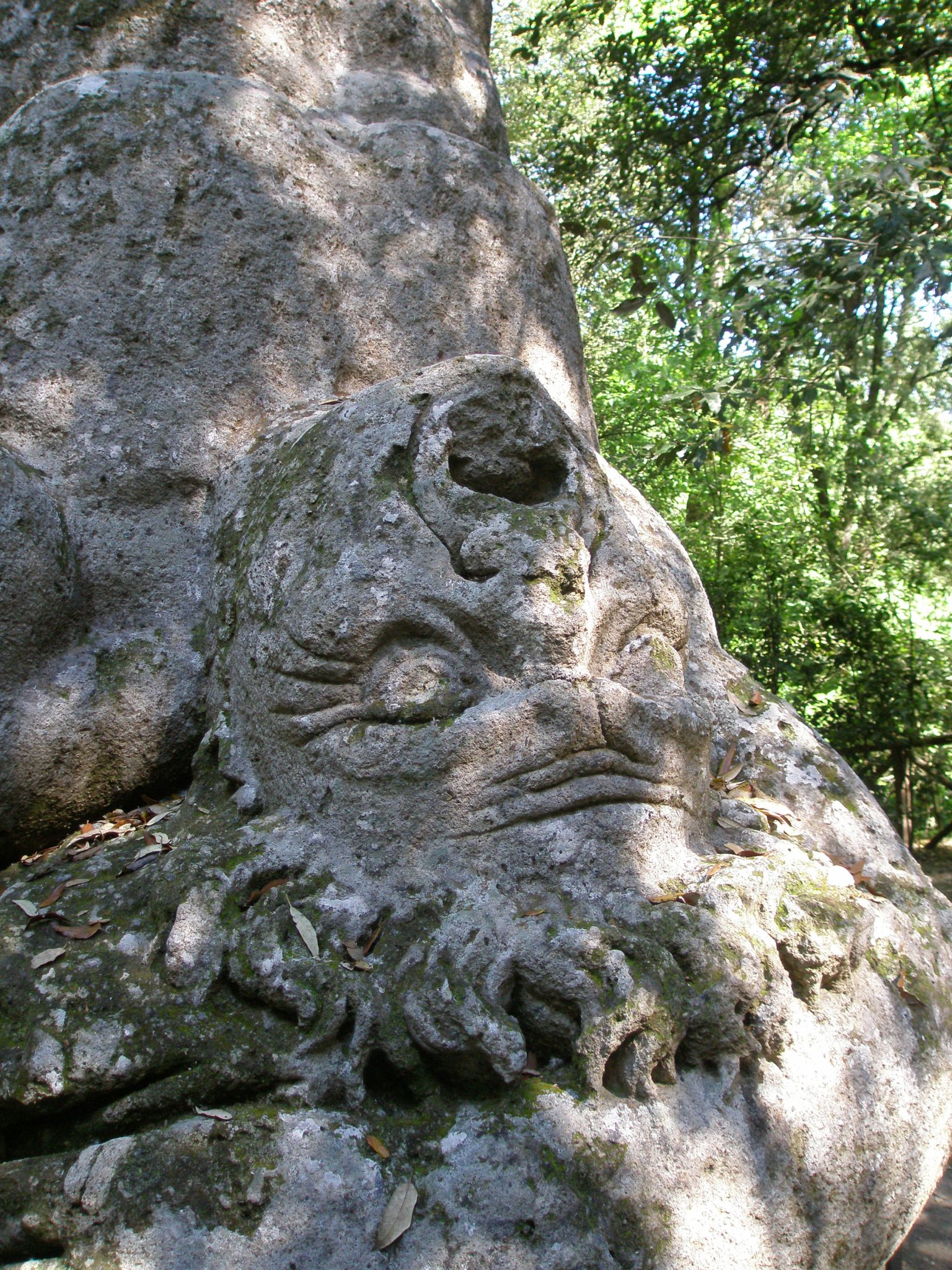 Detail of the face of the Robber Cacus
