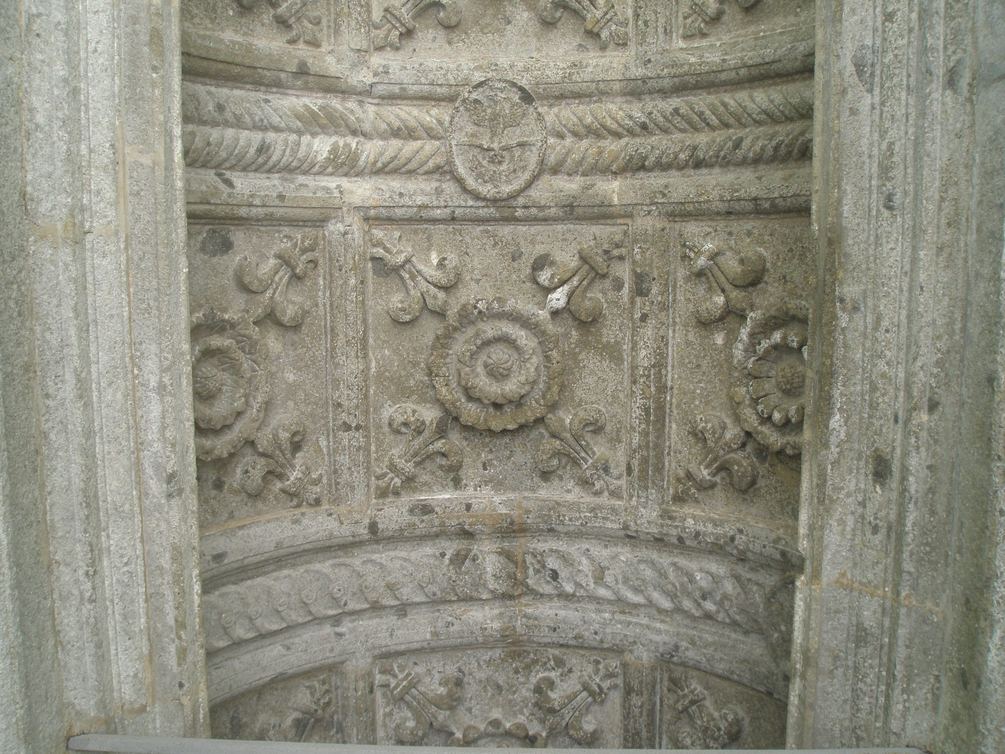 Carving on the vaulted ceiling of the Temple