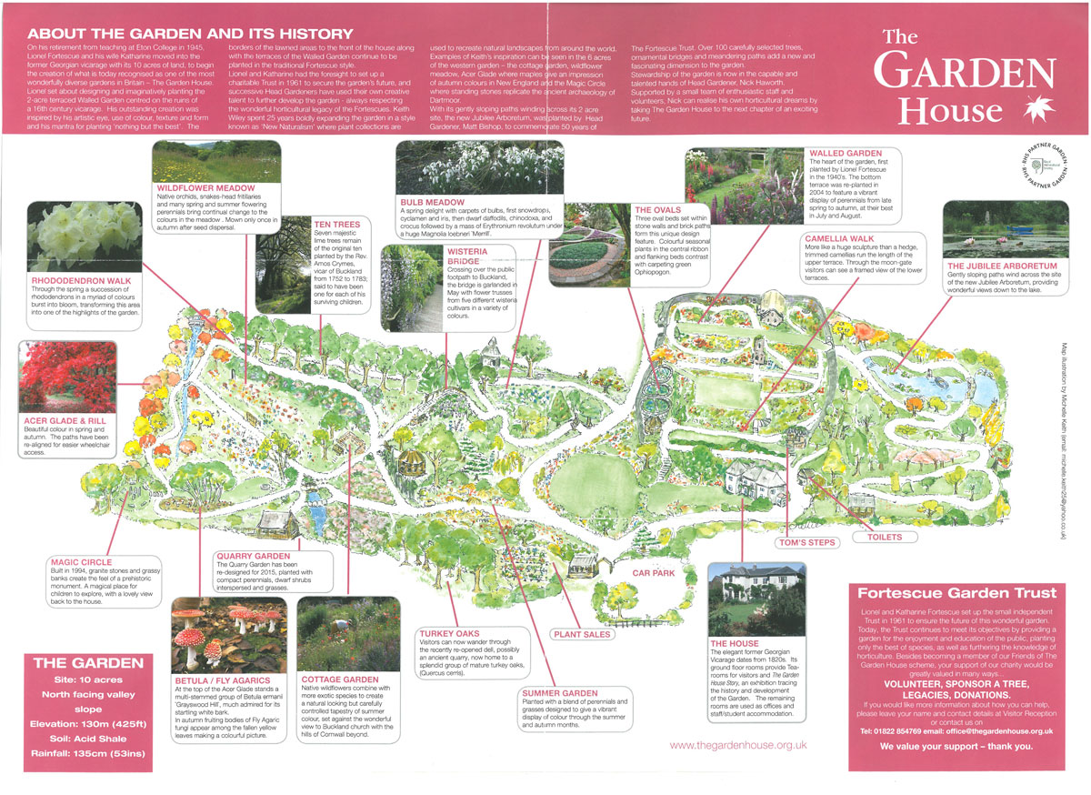 The Garden House's 10 acres of gardens continue to evolve.
