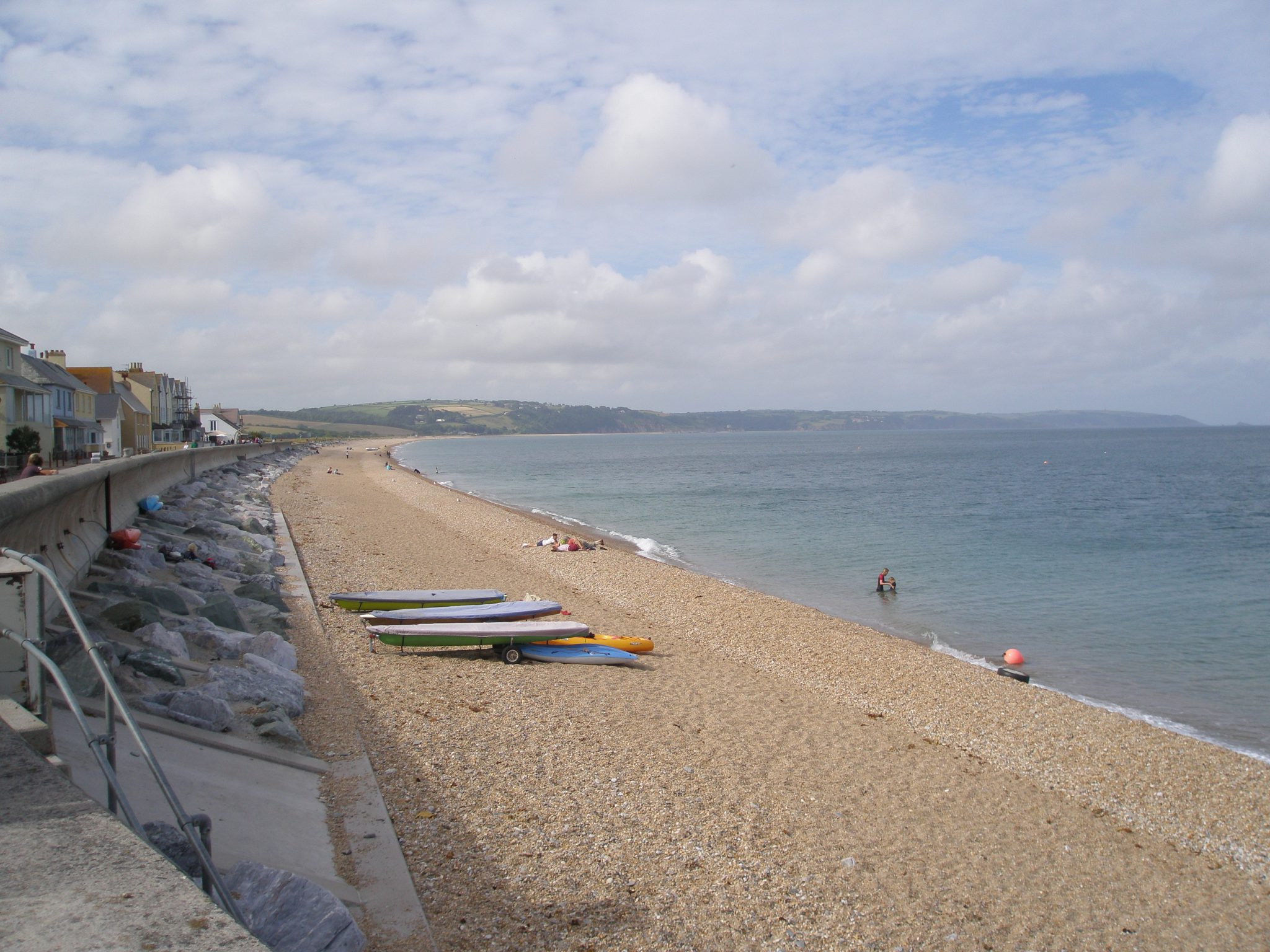 I'm in Torcross, looking northwards up along the long curve of Slapton Sands.
