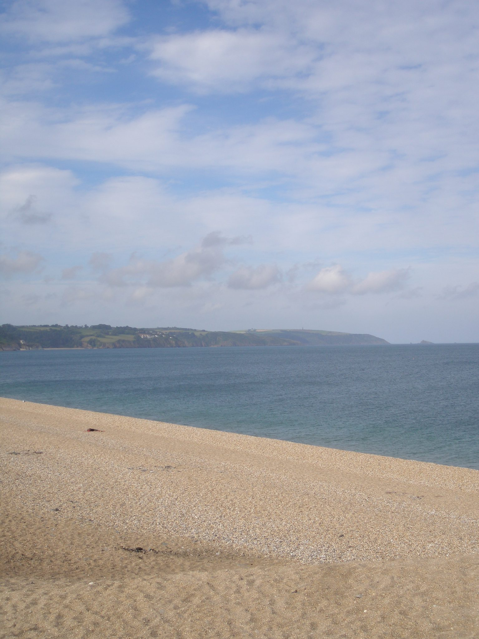 It's peaceful now, at Slapton Sands.