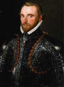 Sir Richard Grenville. Born 1542, in Devon. Died 1591, off Flores, Azores Islands.