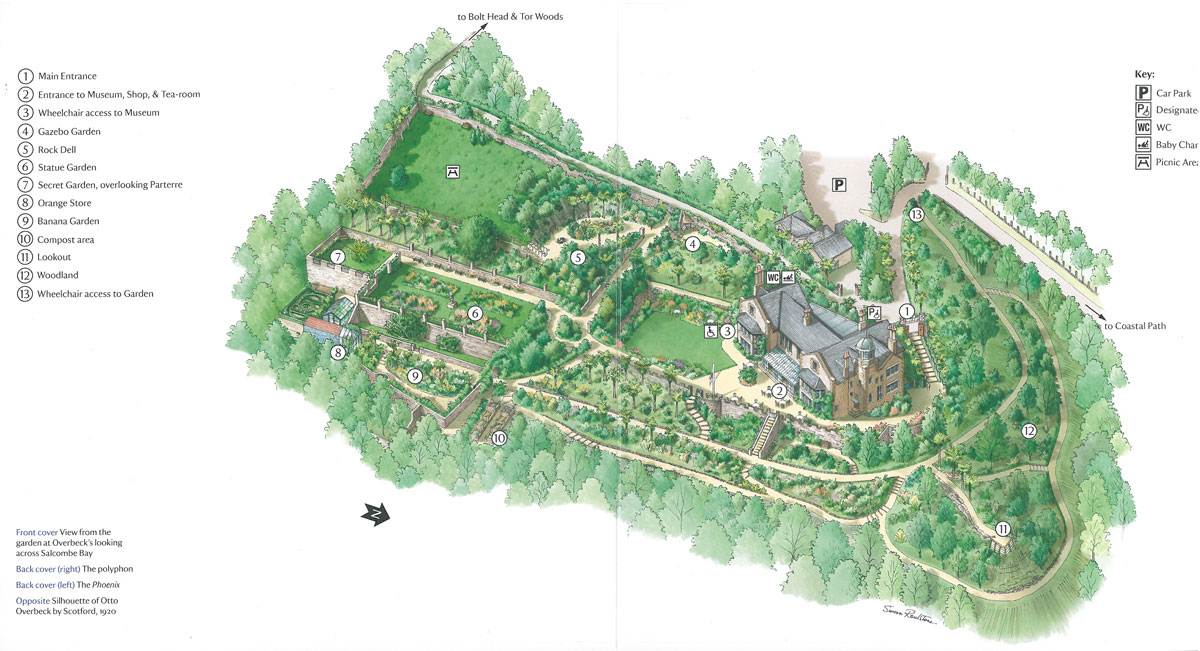 Site Plan: Overbeck's. Image courtesy of the National Trust.