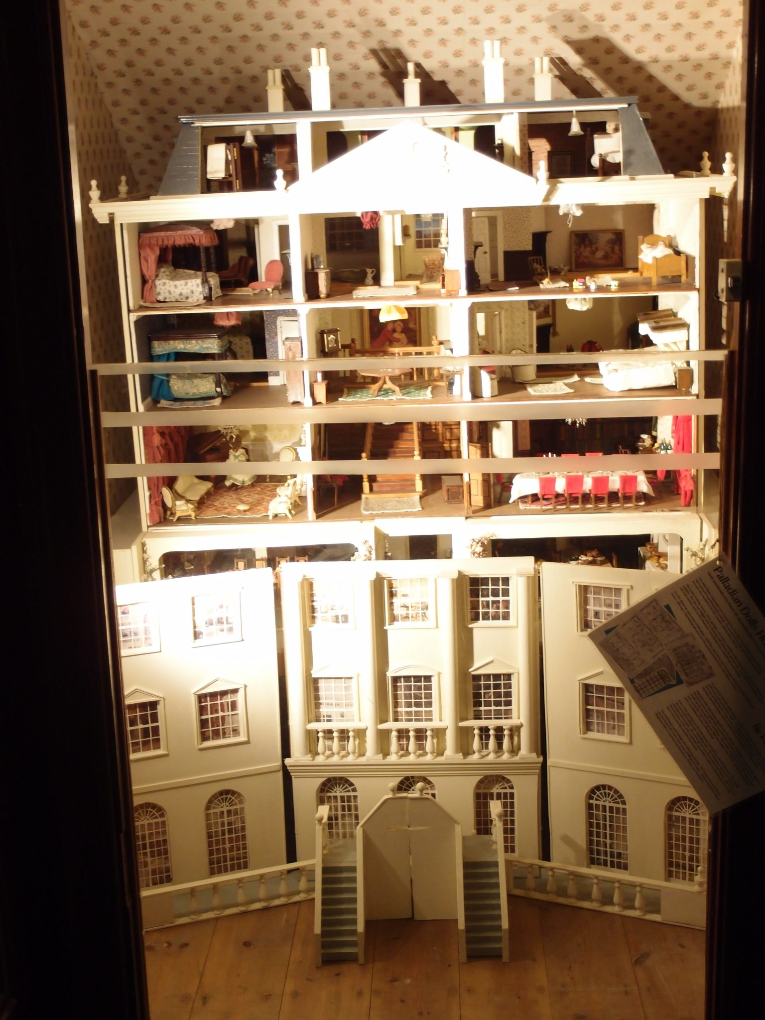 Hidden under the stairs is a room that's full of the dolls' houses which belonged to the Overbeck family.