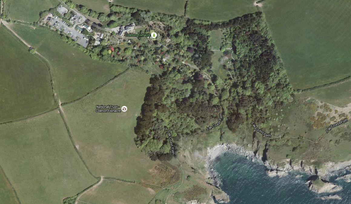 Coleton Fishacre: Aerial View